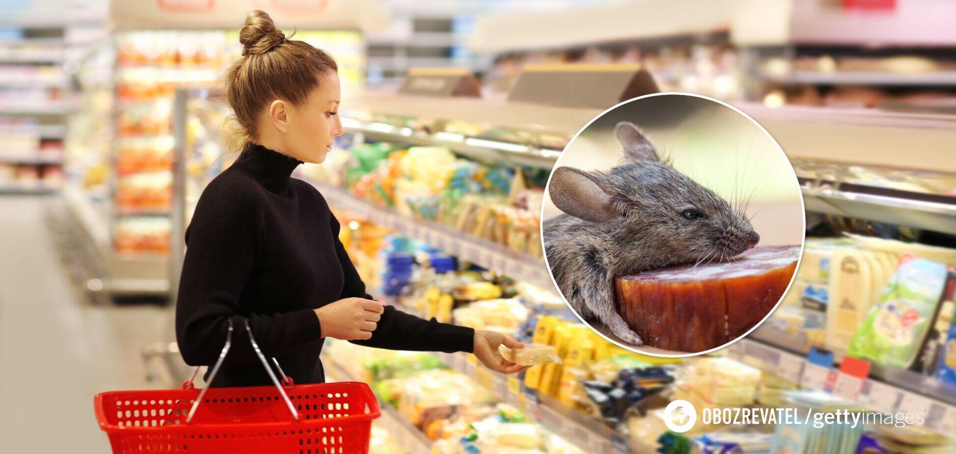 Під Харковом у магазині серед ковбас зняли мишу. Відео