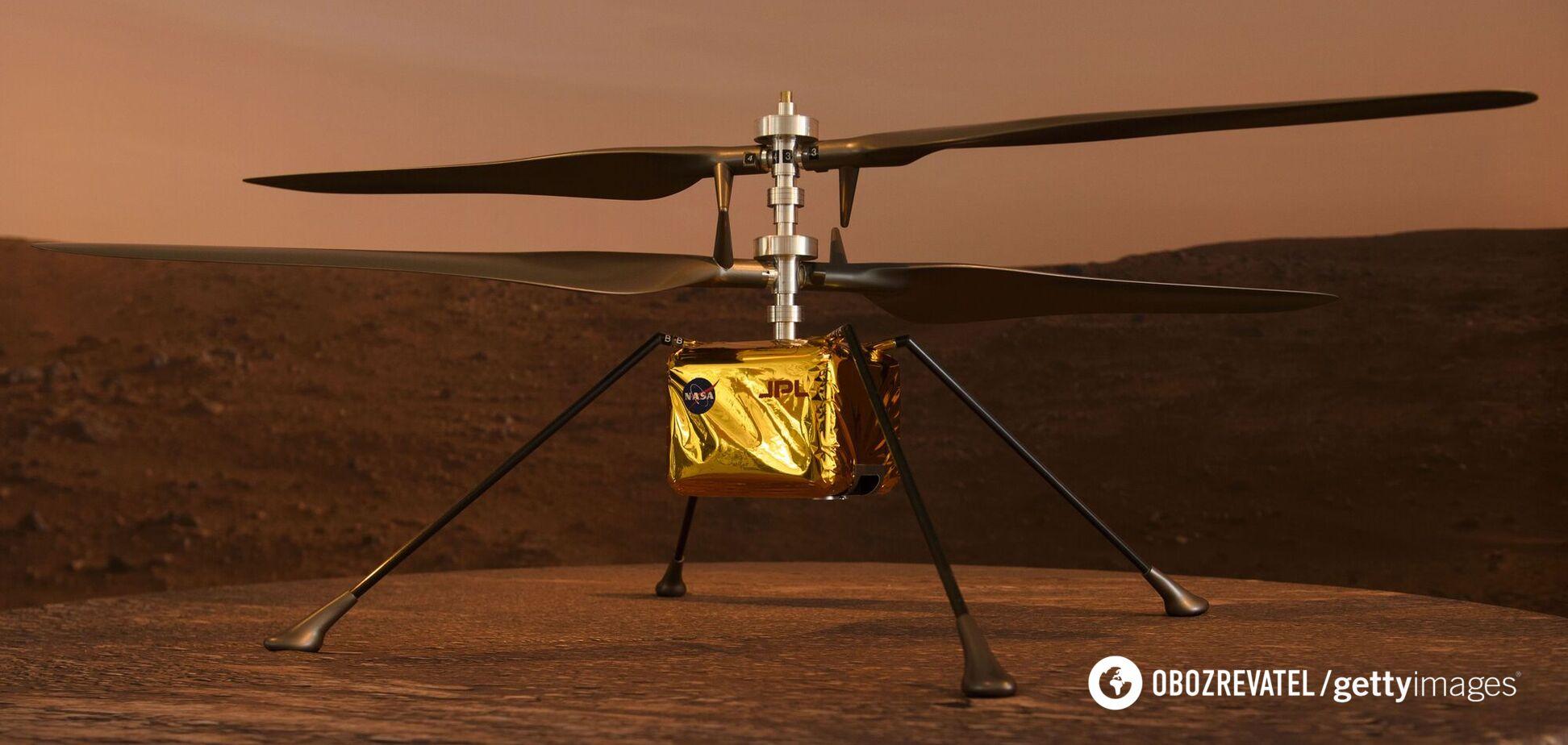 Беспилотник Ingenuity успешно совершил первый полет на Марсе