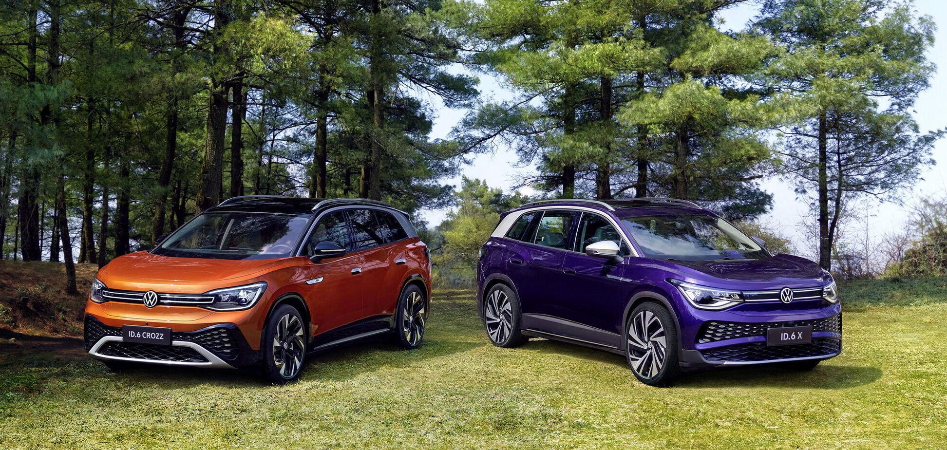 Большой электрокросс Volkswagen ID.6 представили в двух 'лицах'