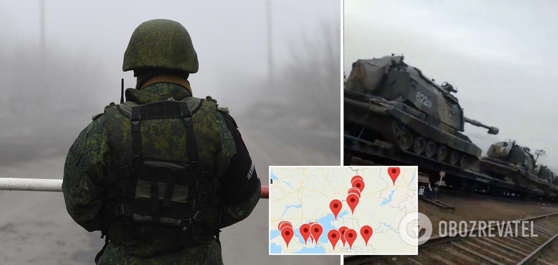 Українська розвідка підтвердила нарощування бойової готовності РФ на Донбасі. Карта і відео пересування військ