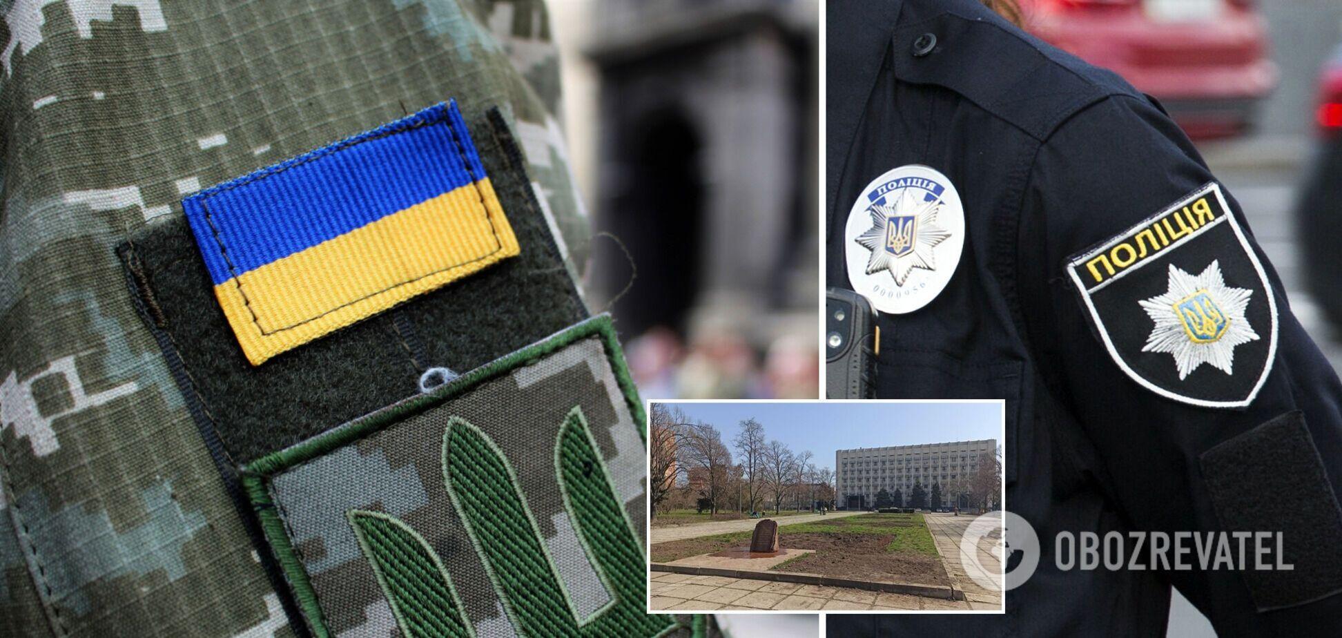 В Одесі облили фекаліями пам'ятний знак загиблим воїнам АТО. Фото