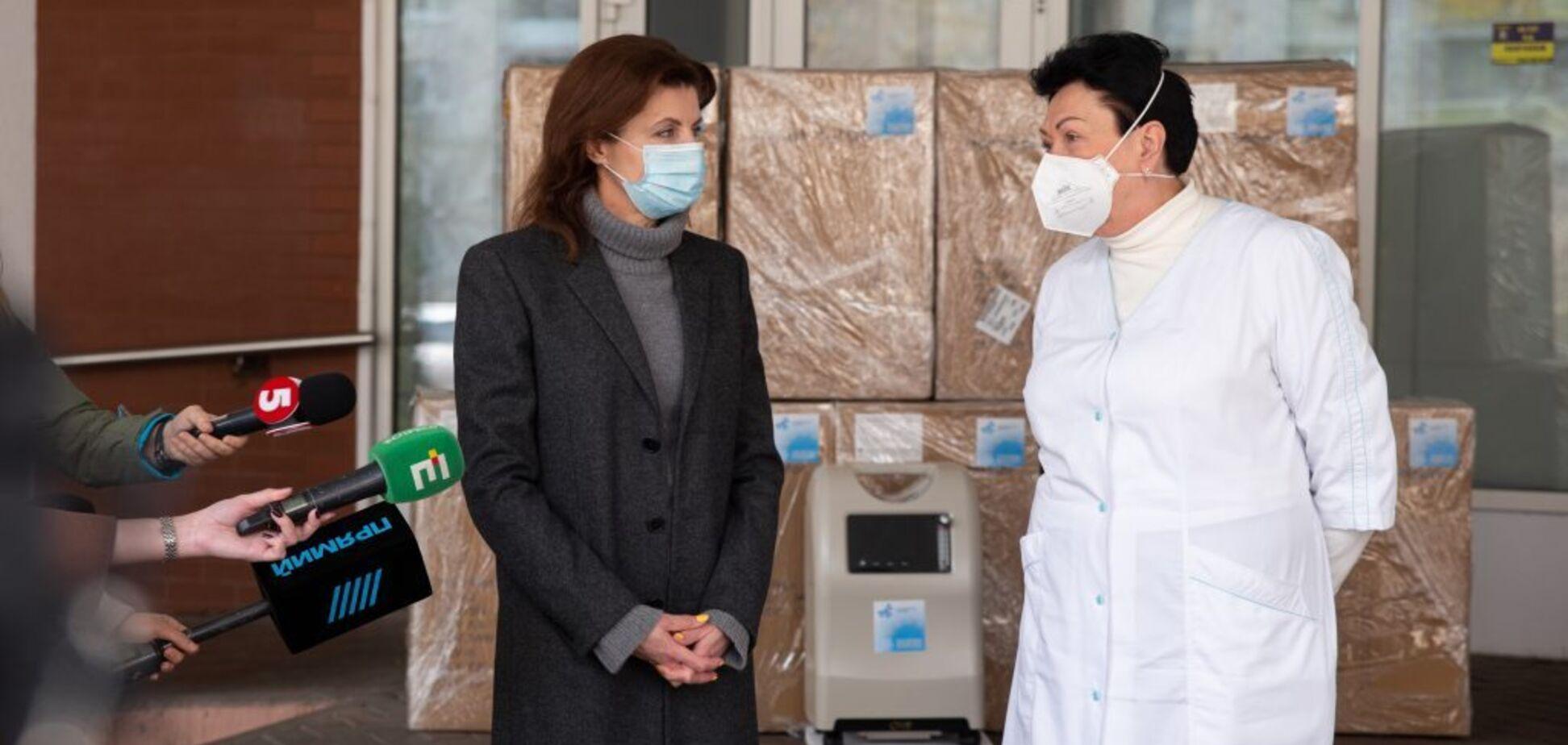 Марина Порошенко передала медзакладам Києва кисневі концентратори
