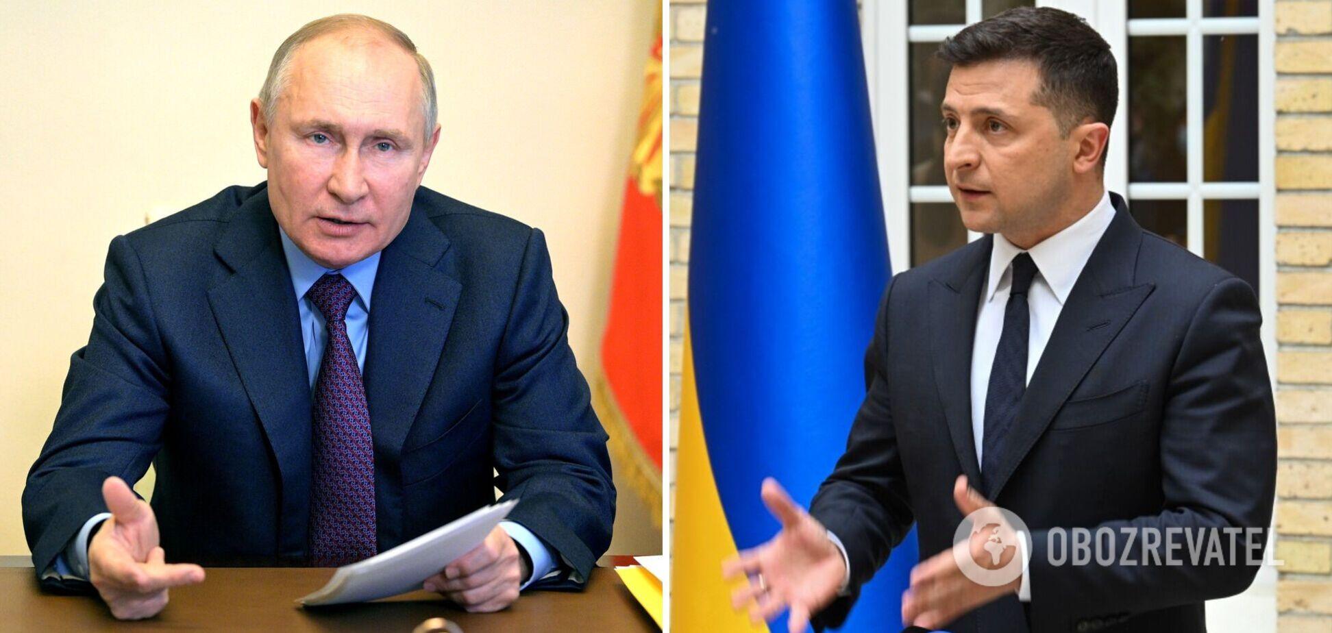 Зеленський російською мовою запропонував Путіну зустрітися на Донбасі. Відео