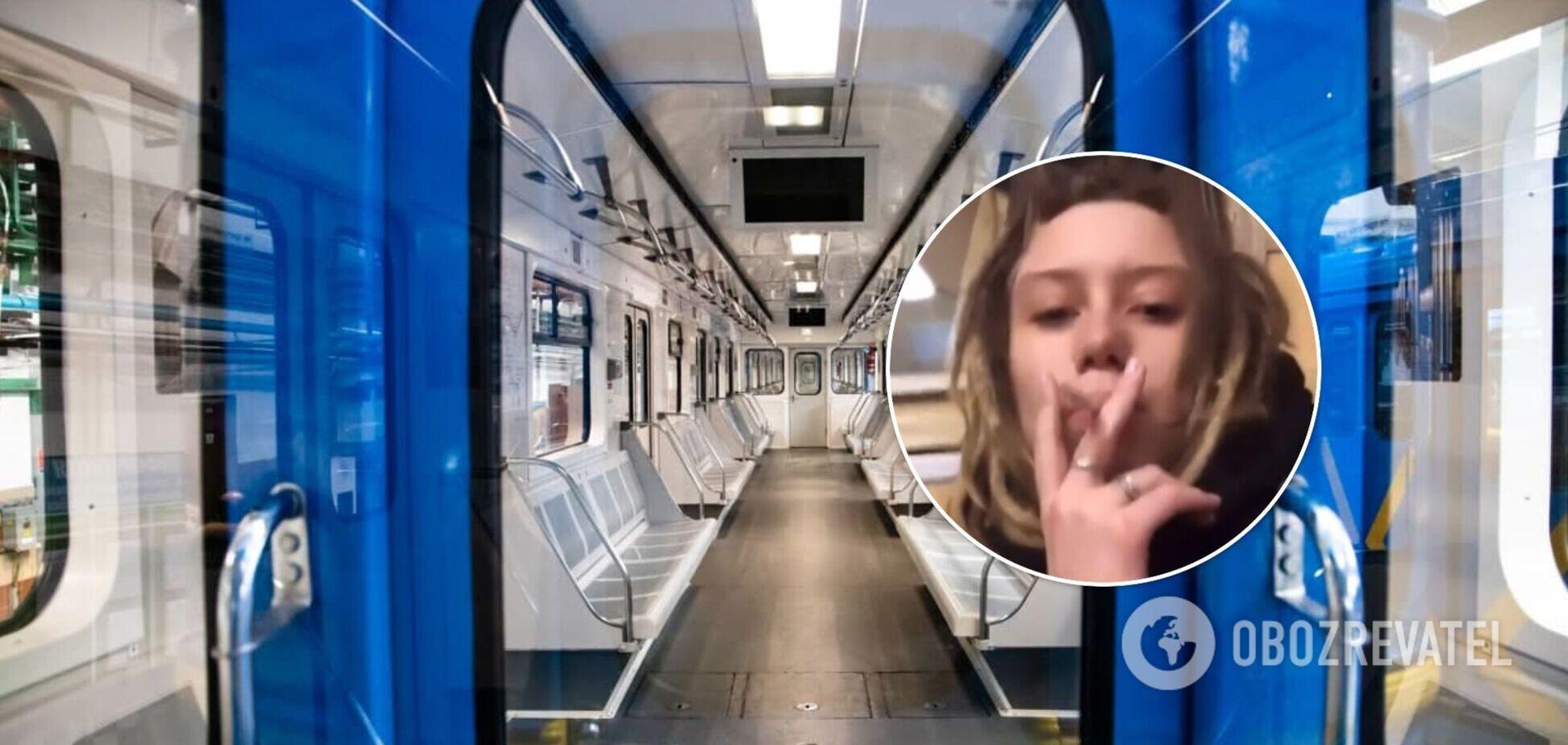 Девушка, курившая в киевском метро, заявила, что стала популярной за одну ночь. Видео