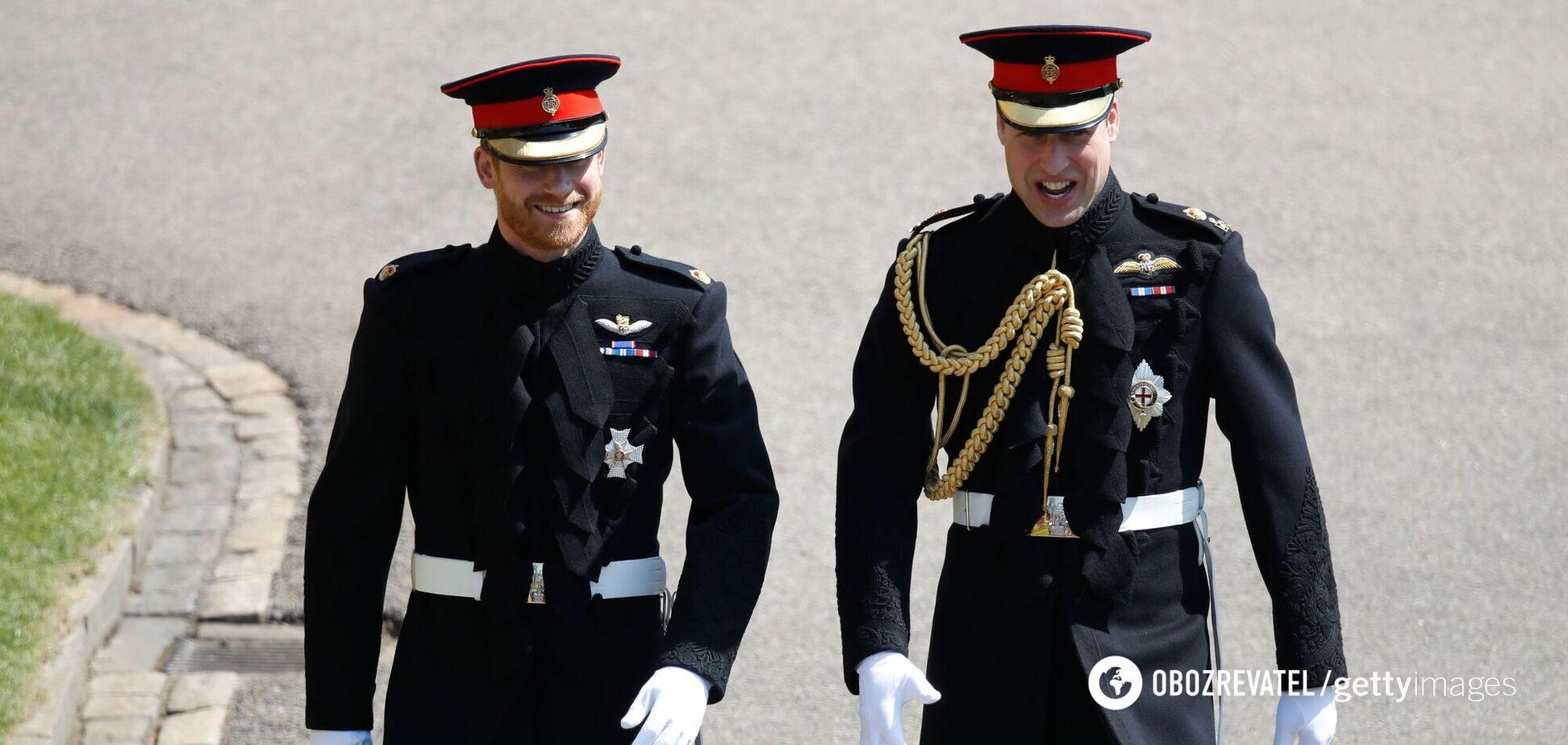 Перекладачі переказали розмову принців Вільяма і Гаррі на похоронах дідуся