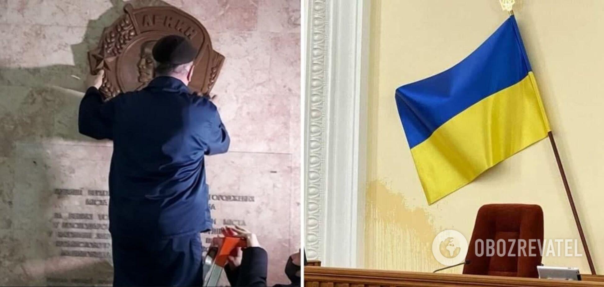 У Харківській міськраді з'явився макет ордена Леніна, поліція почала перевірку