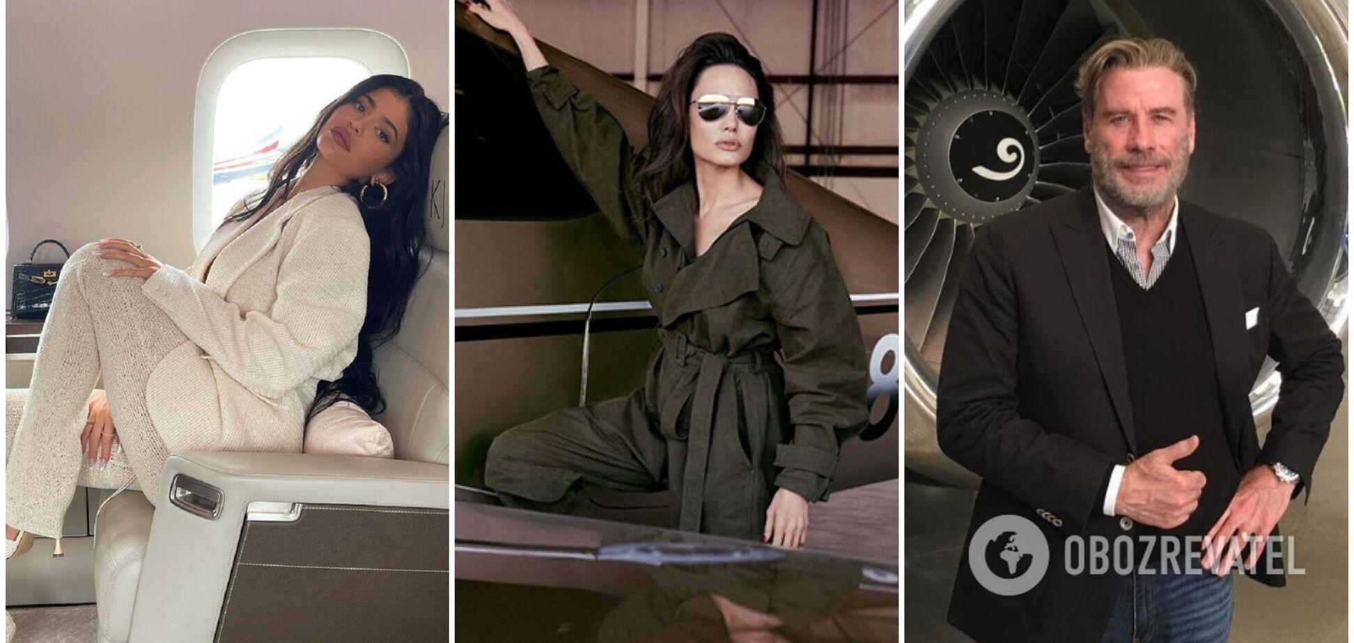 На чому літають зірки: топ-7 шикарних приватних літаків Джолі, Дженнер та інших. Фото