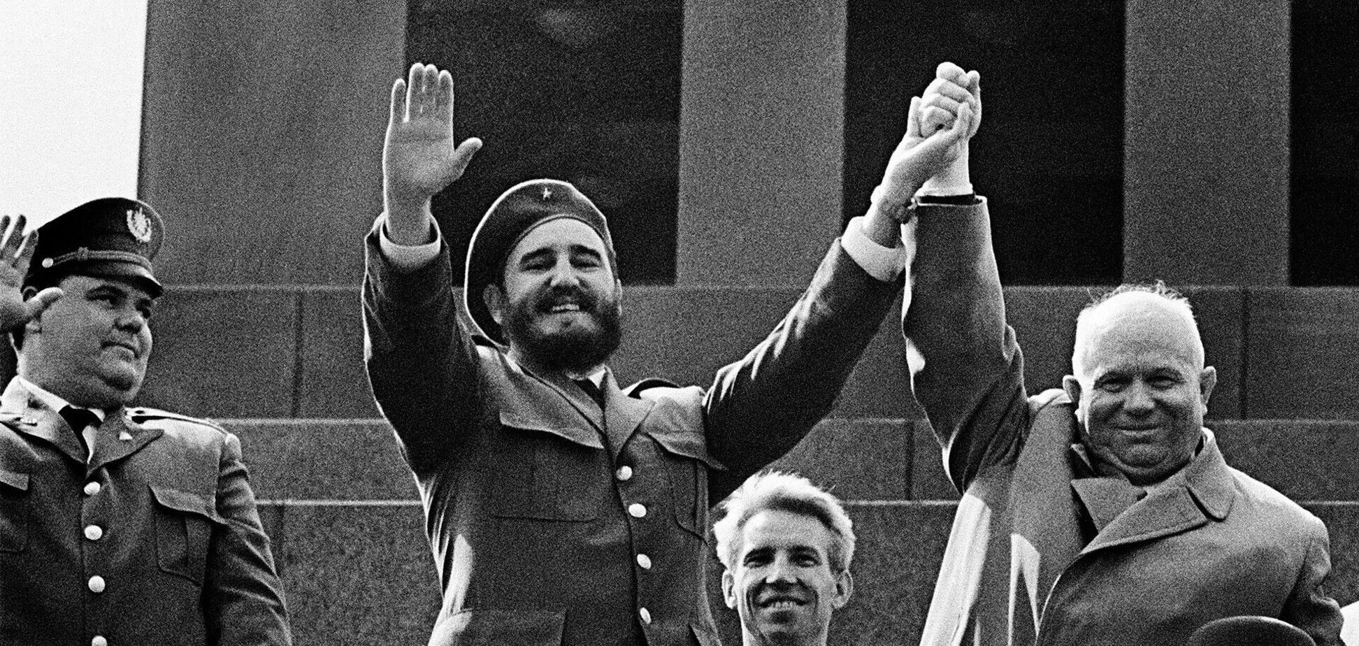 Фідель Кастро з Микитою Хрущовим у Москві