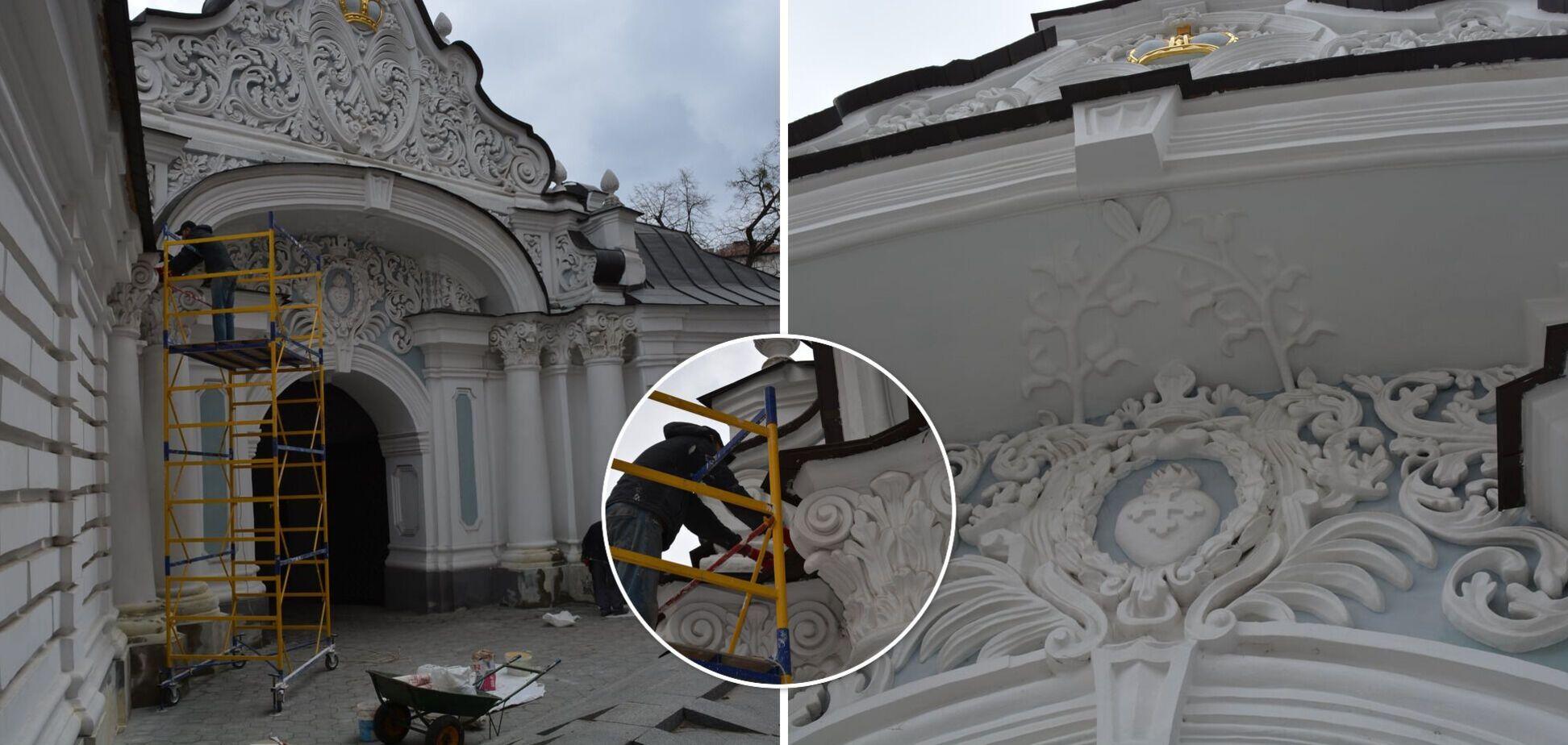 У Києві відреставрують унікальну Браму Заборовського біля Софії Київської. Фото