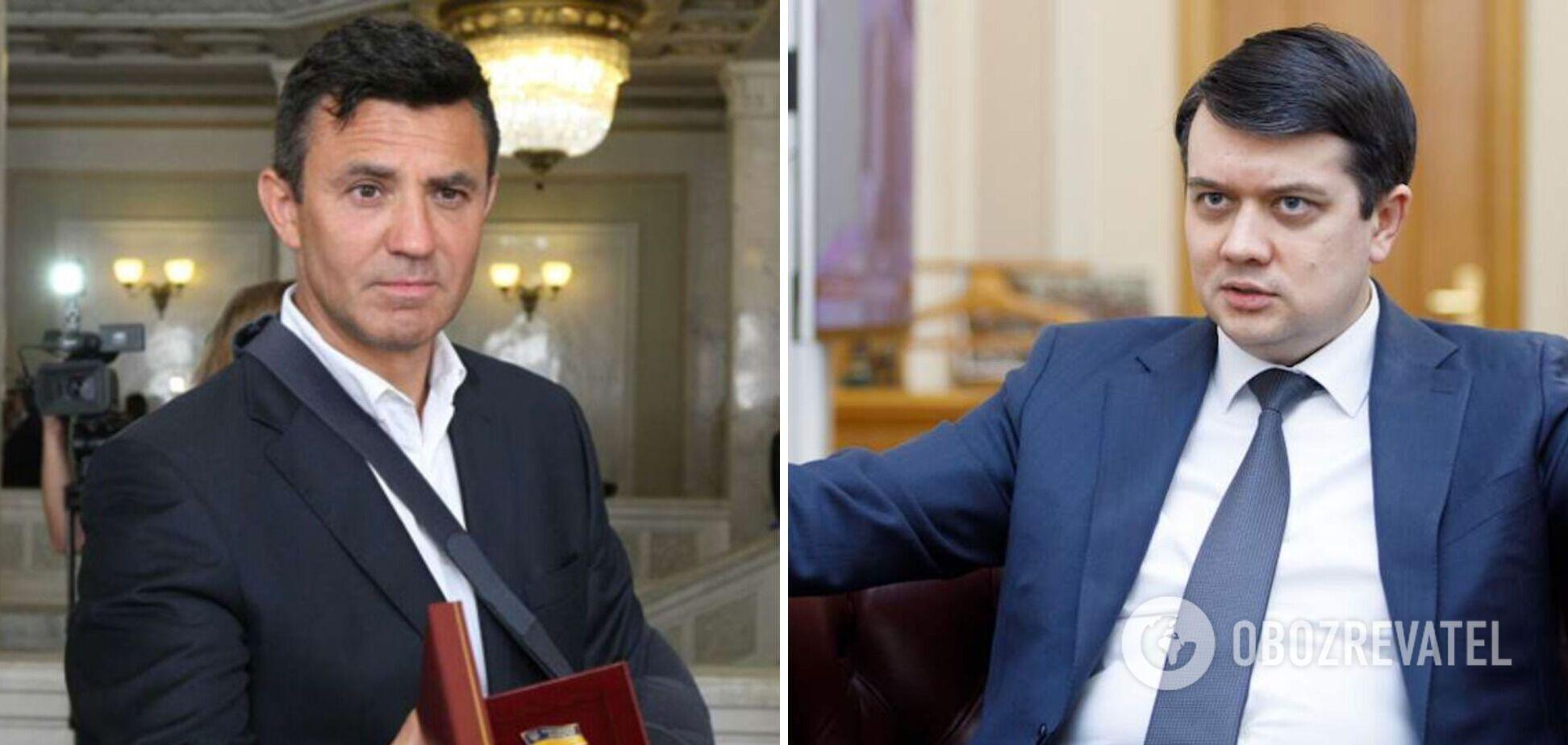 Разумков сказал, что ему стыдно за Тищенко
