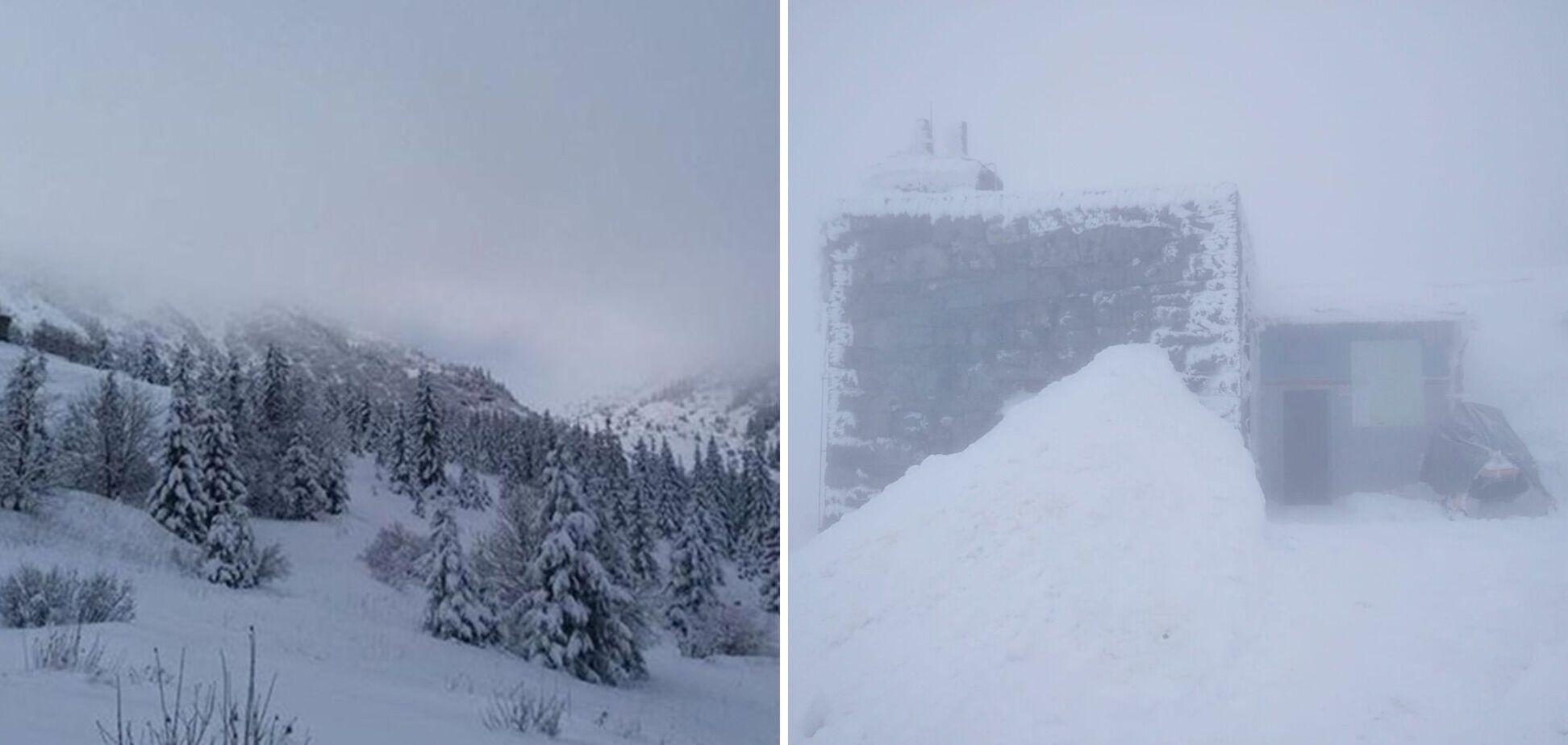 Карпати засипало снігом: оголошено третій рівень небезпеки. Фото