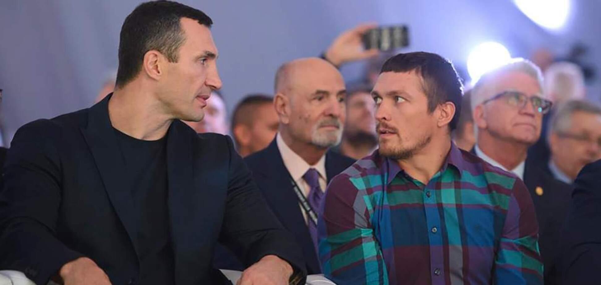 Володимир Кличко і Олександр Усик