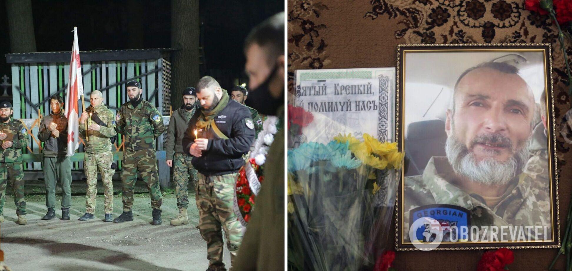 В Киеве попрощались с грузином, погибшим на Донбассе под огнем российских оккупантов. Фото