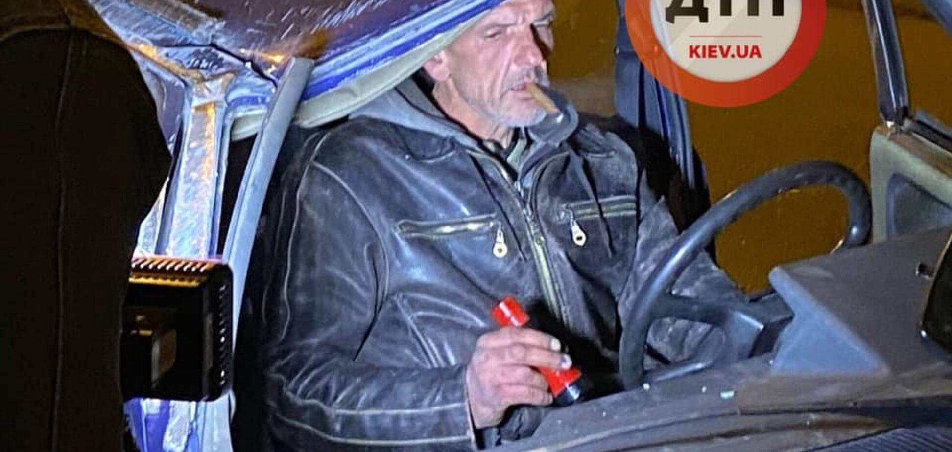 З сигарою в 'Славуті': у Києві п'яний чоловік скоїв ДТП