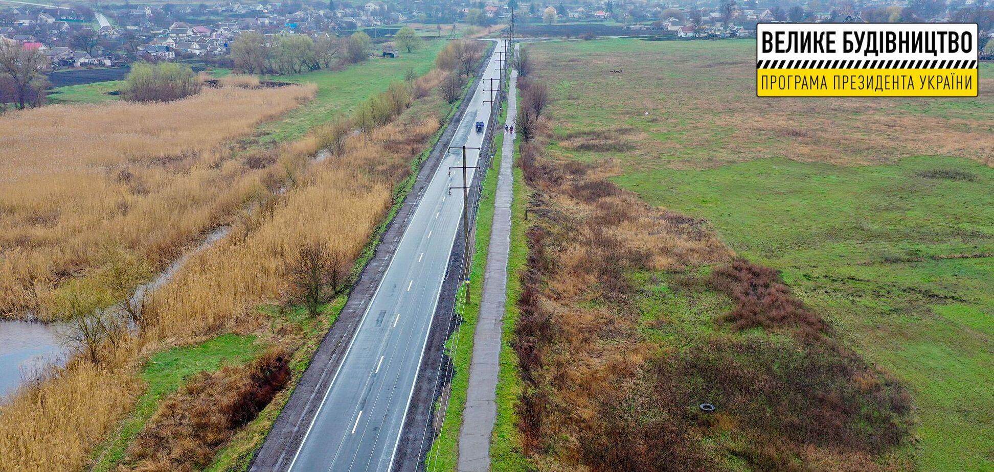 'Большая стройка': объездную Криничек на Днепропетровщине отремонтировали впервые за 10 лет