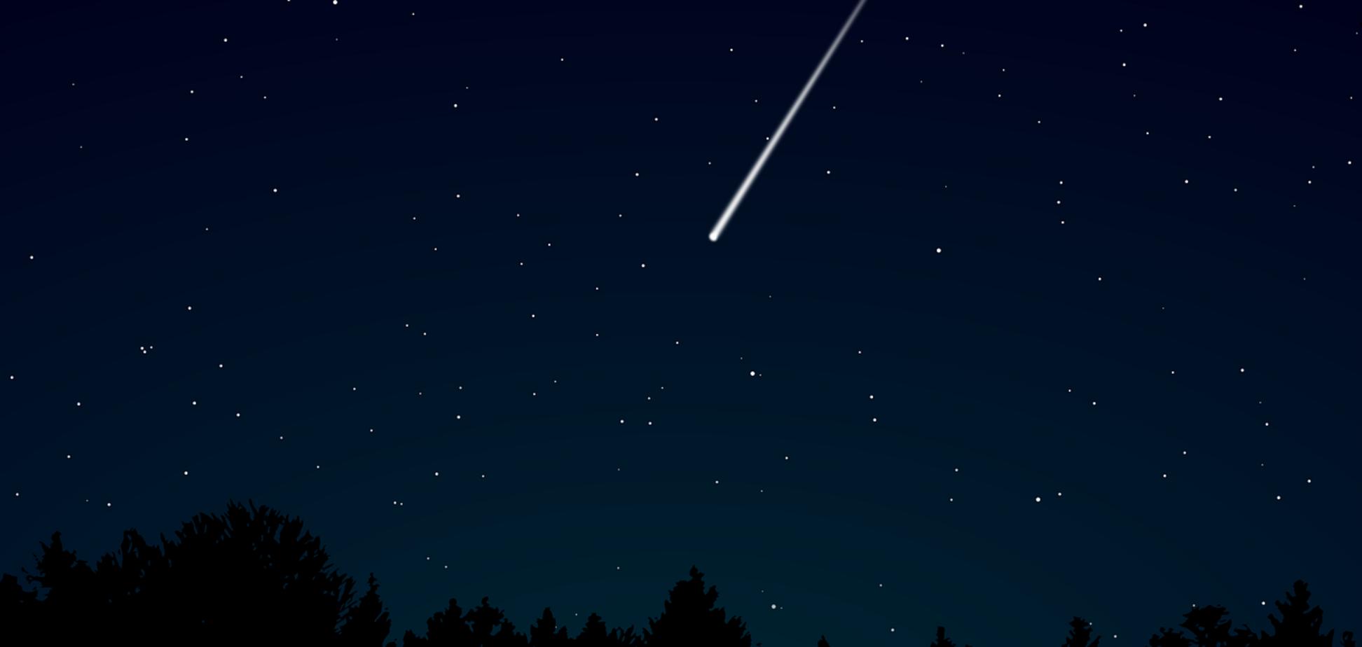 Названо время пика звездопада Лириды: когда его лучше всего увидеть украинцам