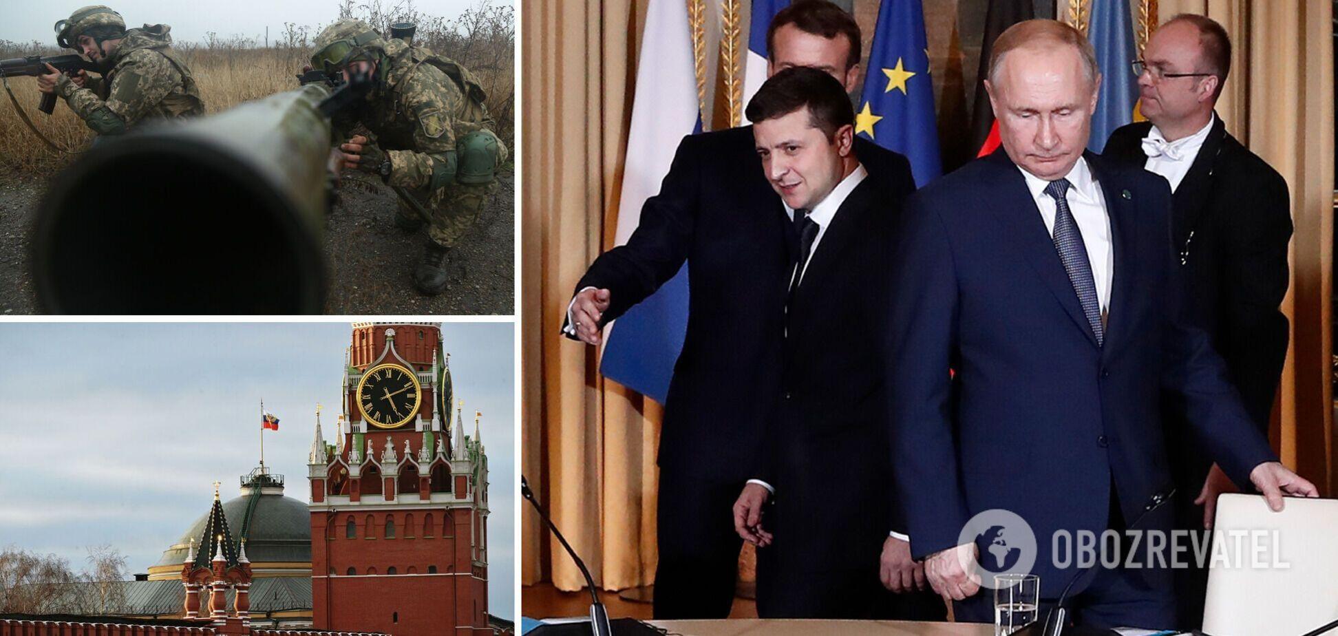 Президент Украины Владимир Зеленский предложил Владимиру Путину встретиться на Донбассе