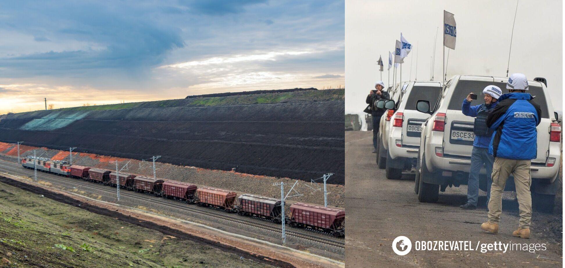 На границе Луганщины с РФ ОБСЕ обнаружила десятки вагонов с неизвестным грузом