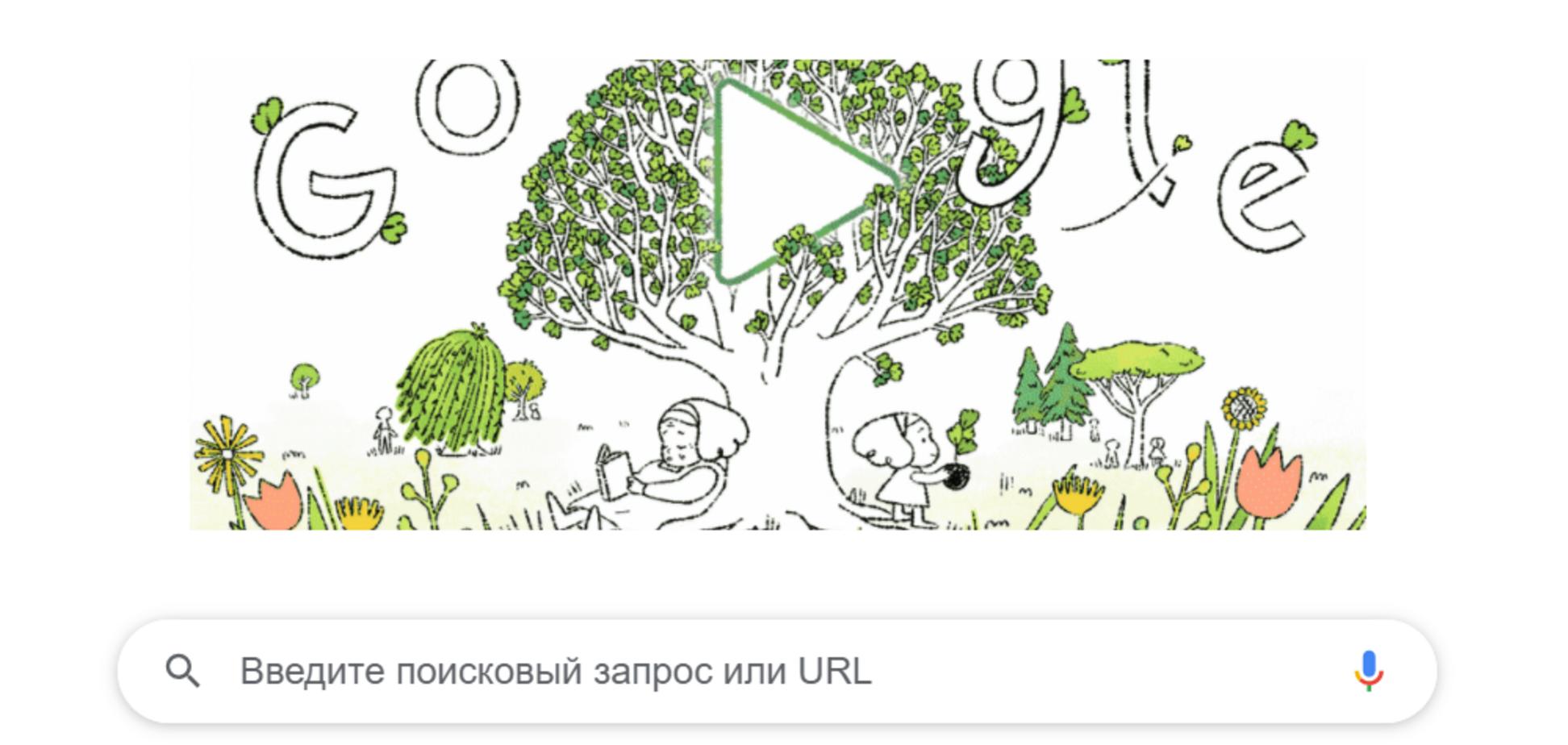 Дудл от Google ко Дню Земли