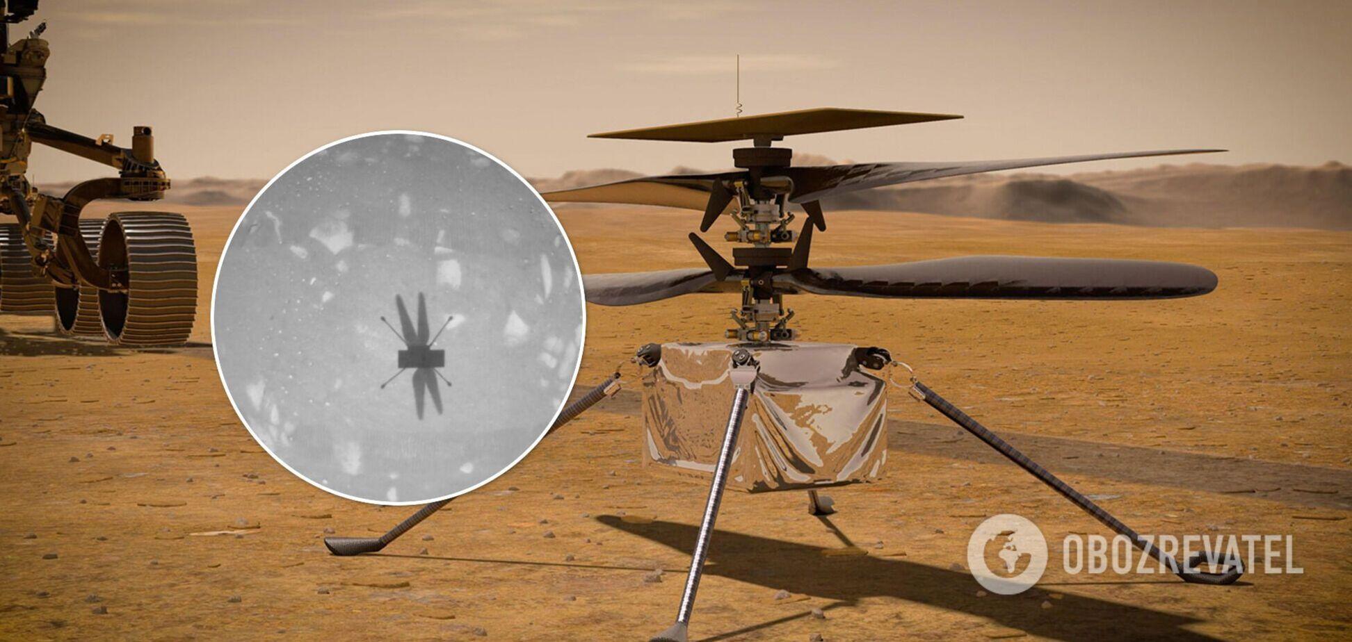 Вертоліт NASA на Марсі здійснив другий політ. Фото