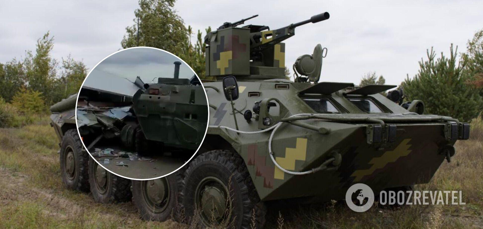 У Криму російські військові на БТР зім'яли 'Газель'. Відео ДТП