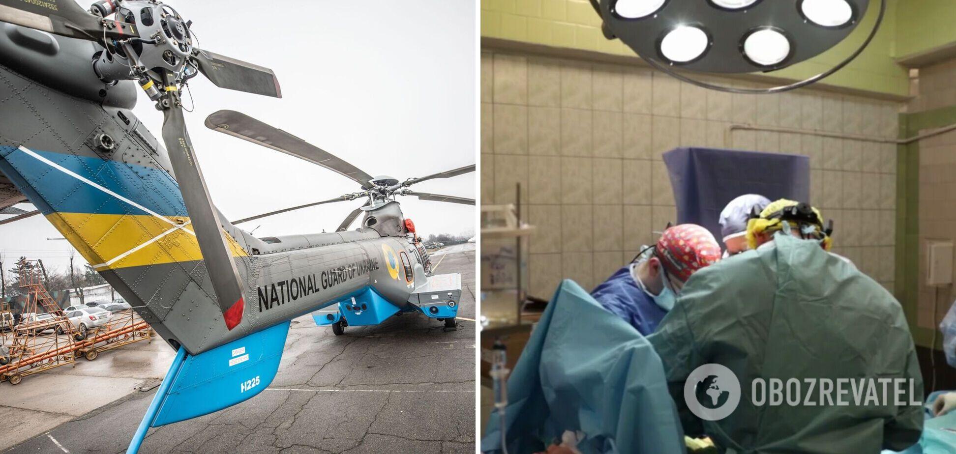 Авіація Нацгвардії допомогла транспортувати до Києва органи донорки із Запоріжжя. Відео