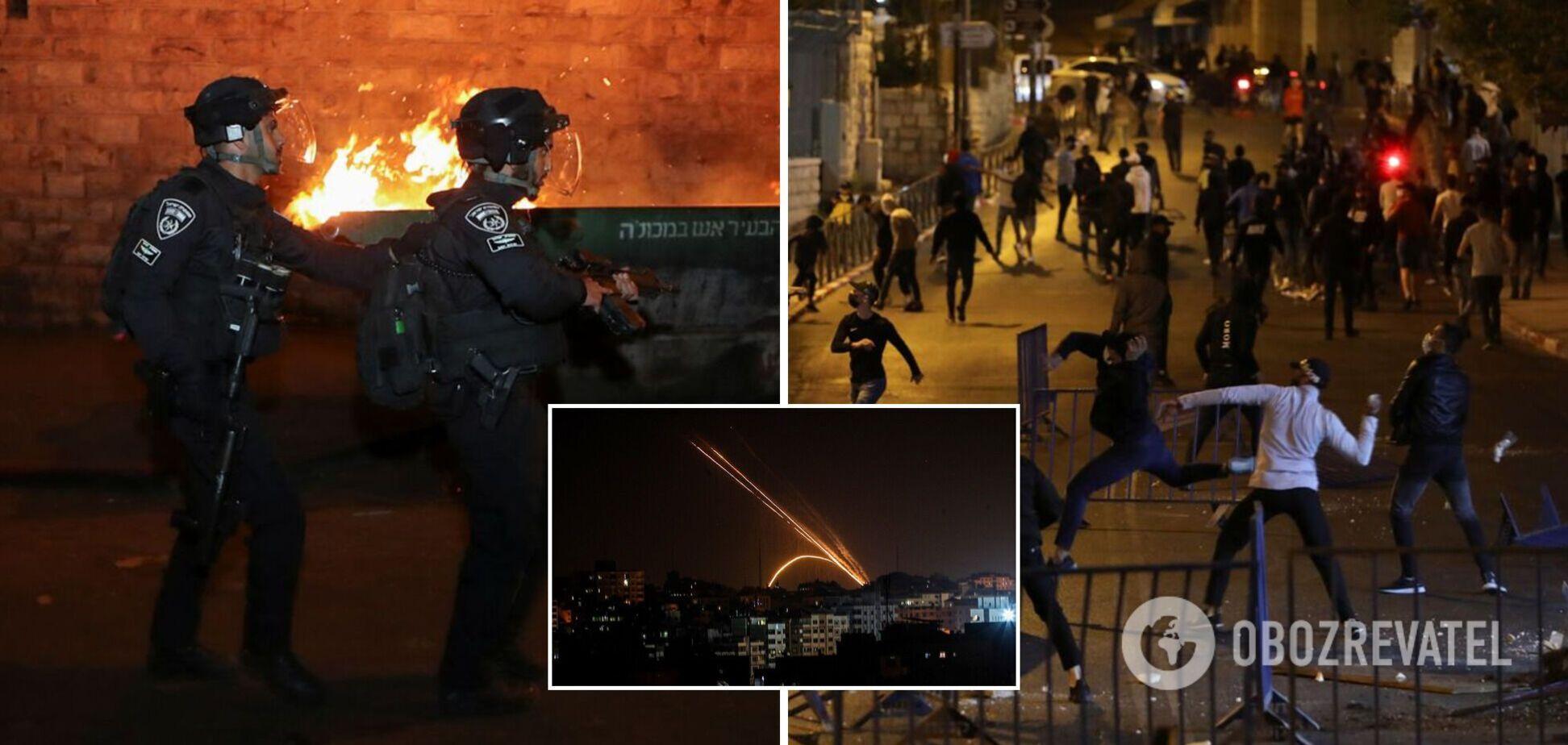 В Израиле разгорелись противостояния, из сектора Газа запустили ракеты. Фото
