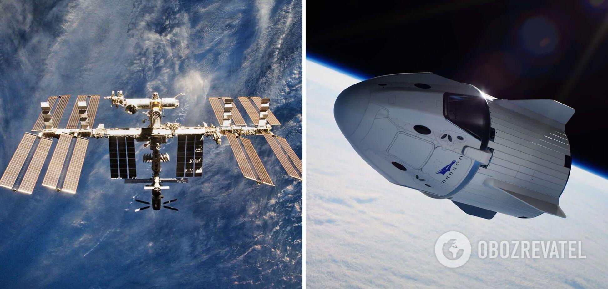 Корабль Crew Dragon с астронавтами пристыковался к МКС. Видео