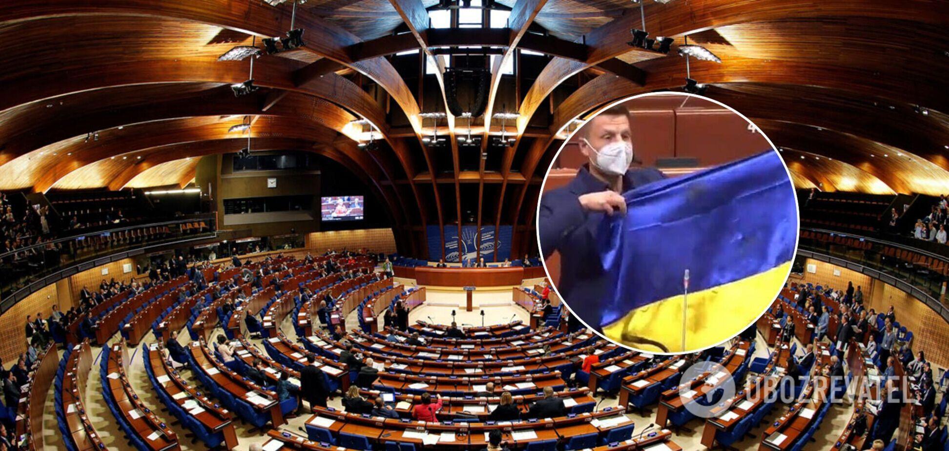 В ПАСЕ перенесли рассмотрение санкций против Гончаренко за простреленный флаг Украины с Донбасса
