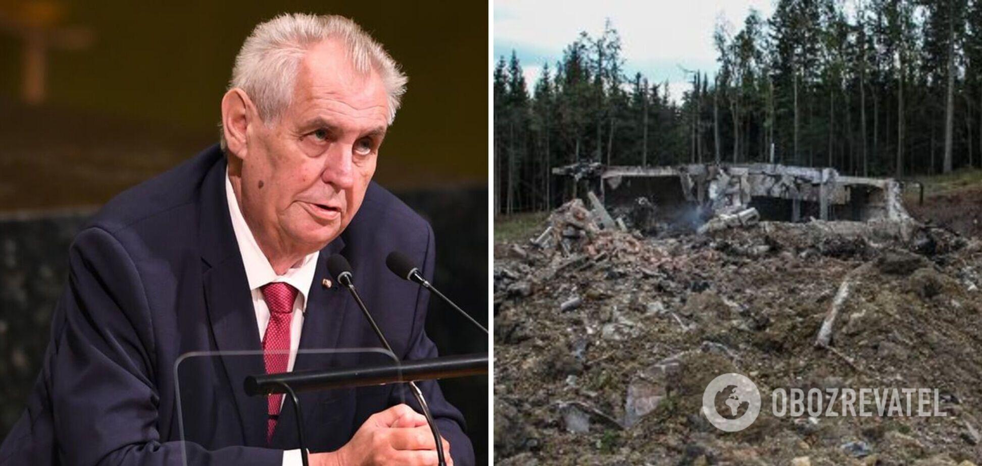 Чеські політики обурилися виступом свого президента про вибухи на військових складах