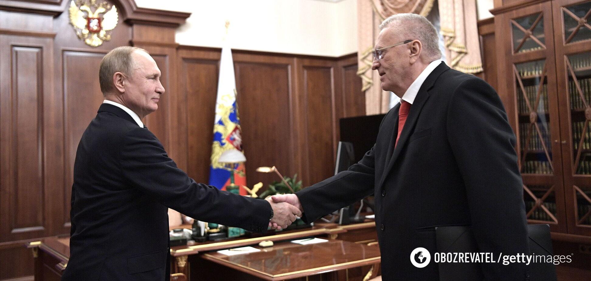 Путин наградил Жириновского орденом 'За заслуги' перед РФ