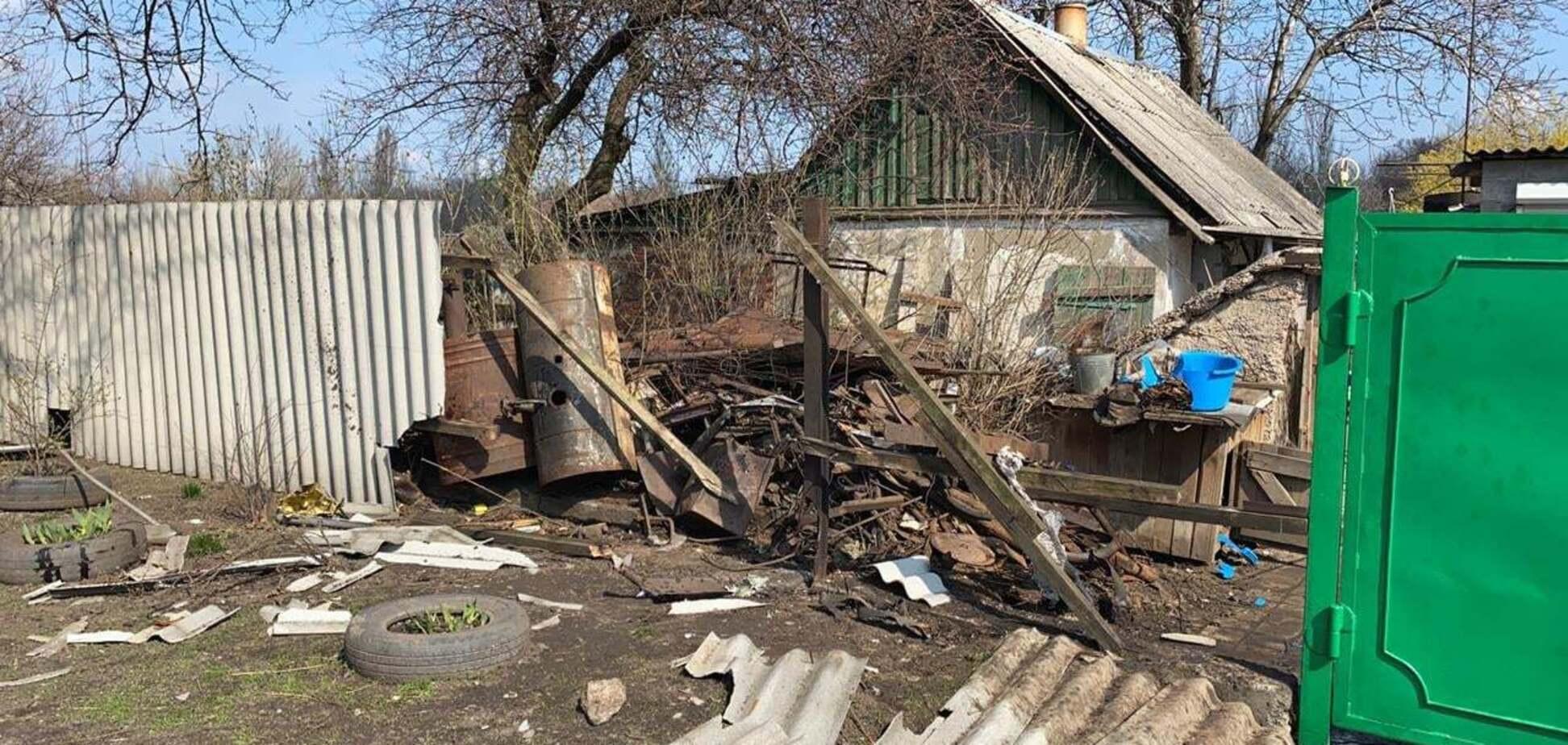 22 апреля российско-оккупационные войска на востоке Украины обстреляли ракетами двор в поселке Дружба