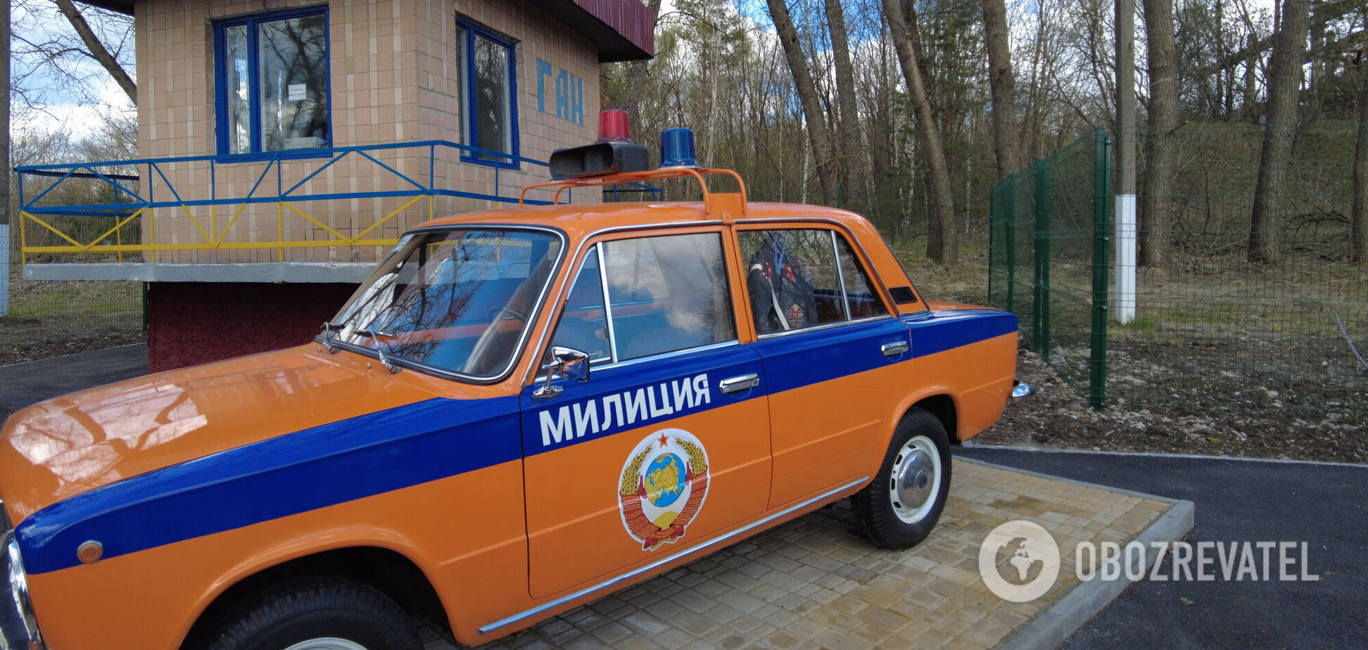 ''Відійшли на кілька хвилин'': у Чорнобилі реконструювали пост ДАІ
