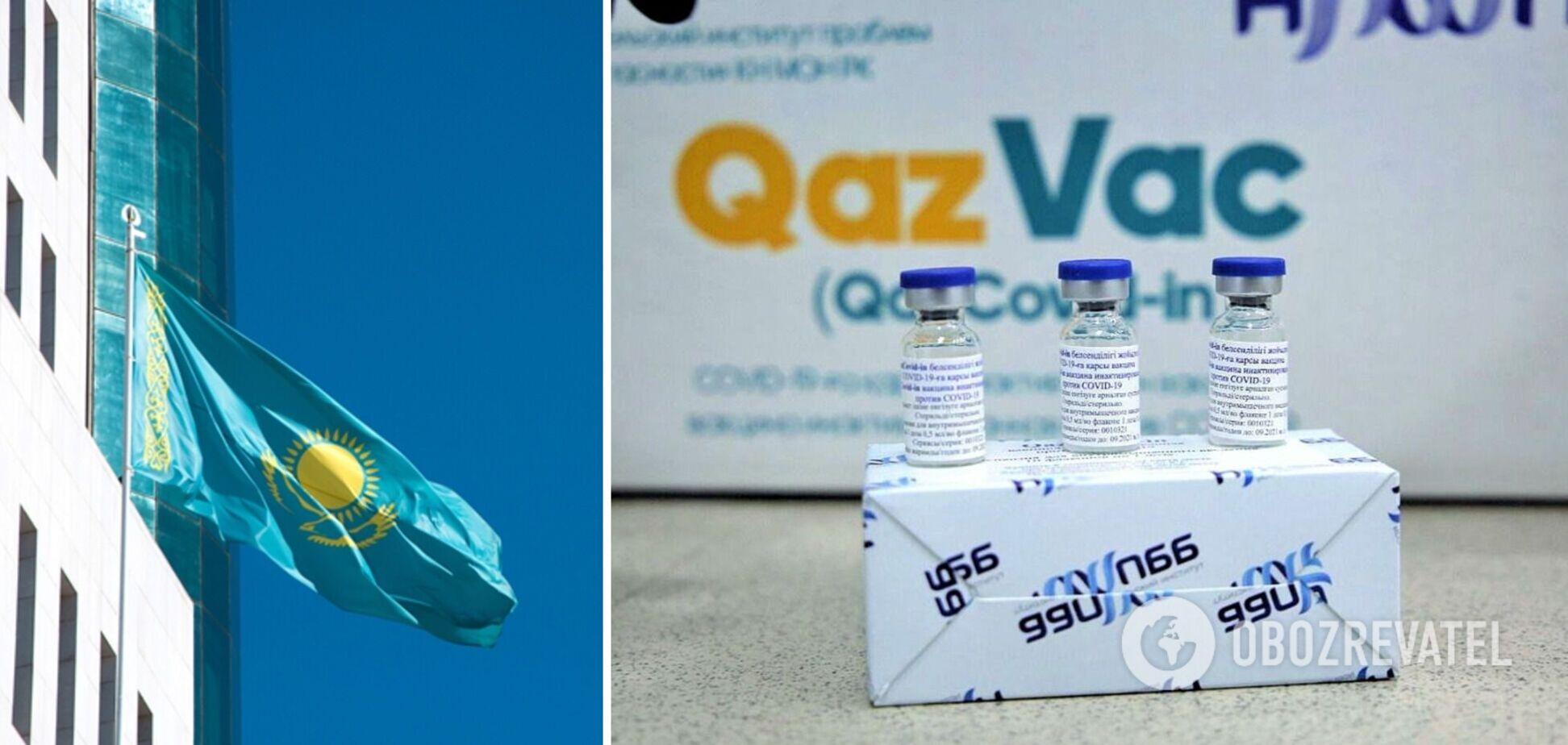 Казахстан розробив власну вакцину QazVac і почав робити нею щеплення від COVID-19