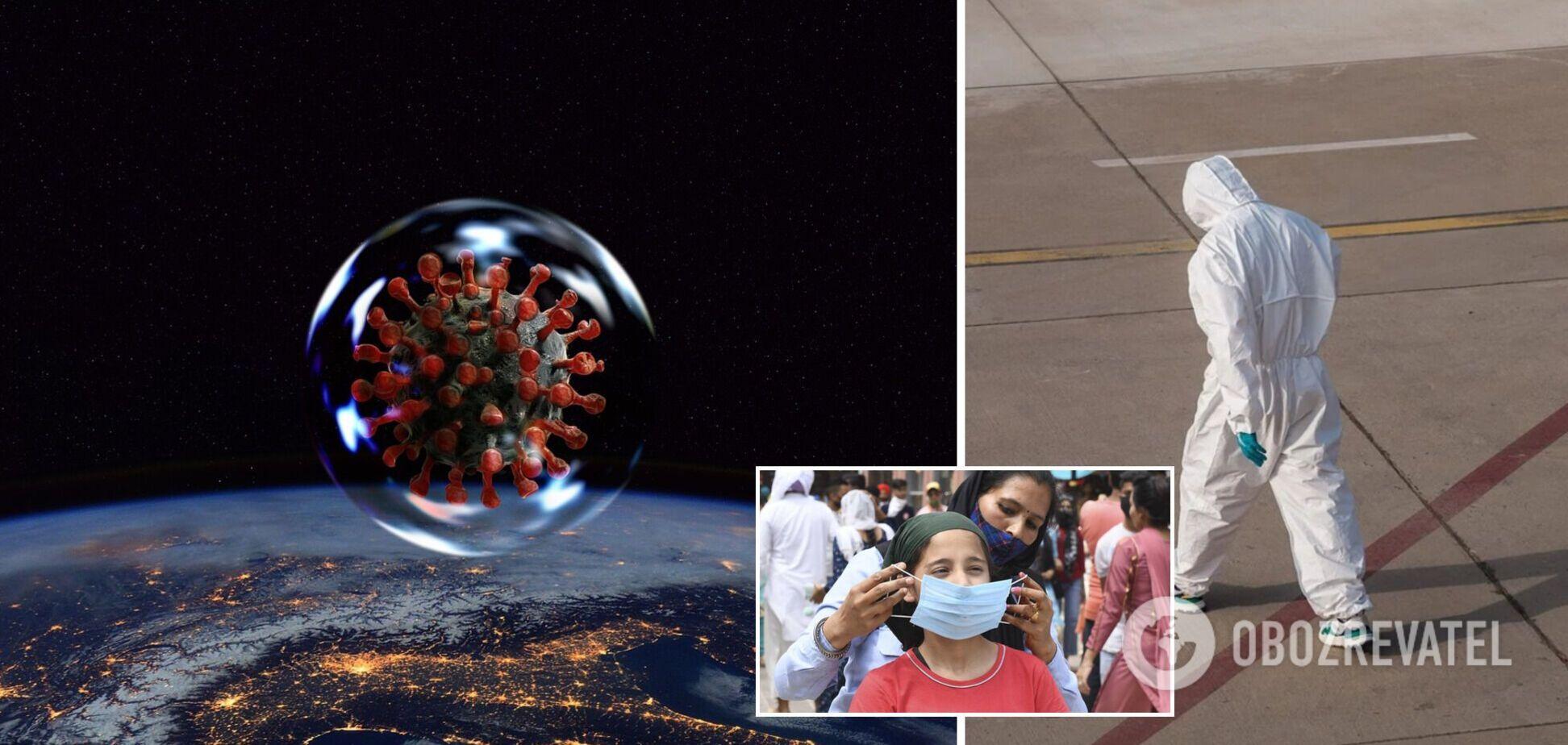 ВООЗ: у світі захворюваність на COVID-19 зростає дев'ять тижнів поспіль, найгірша ситуація в Індії