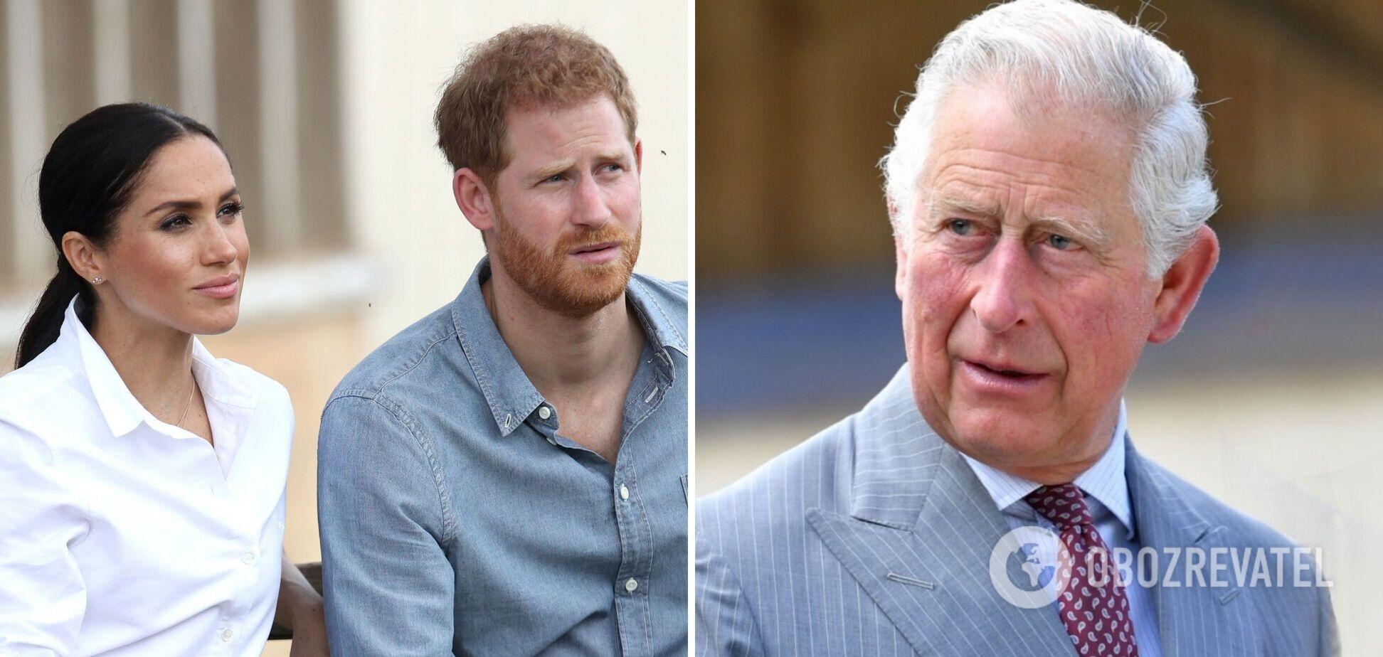 Принц Чарльз планирует исключить Гарри и Меган из королевской семьи