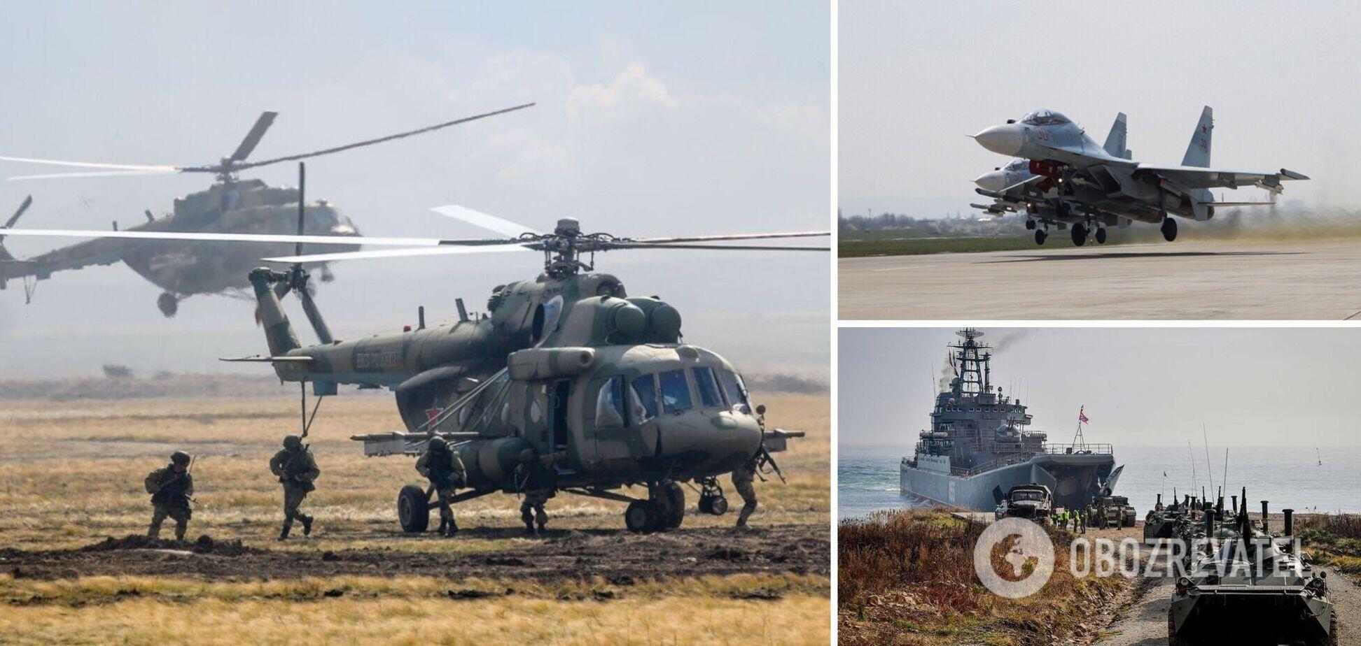 У Росії заявили про повернення авіації з Криму після 'навчань'