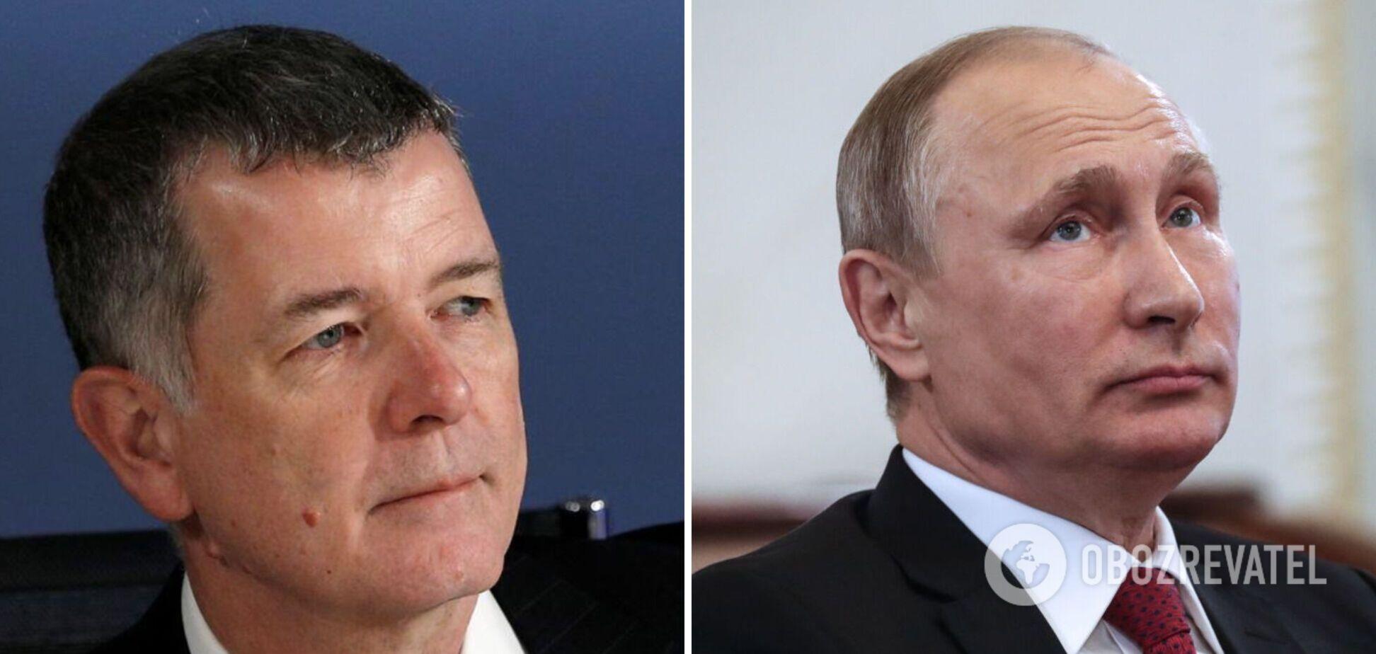Глава Ми-6 Ричард Мур и президент РФ Владимир Путин
