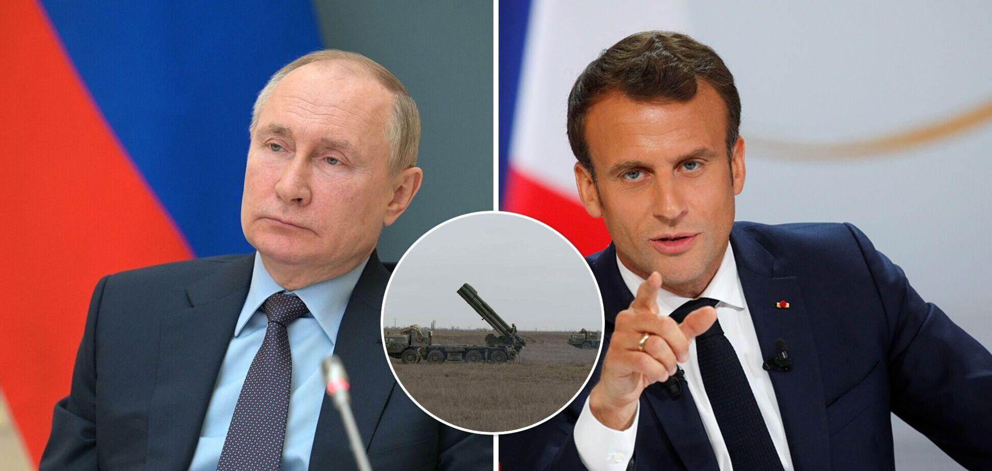 Макрон позвонил Путину и призвал прекратить огонь и отвести тяжелое оружие от границ Украины