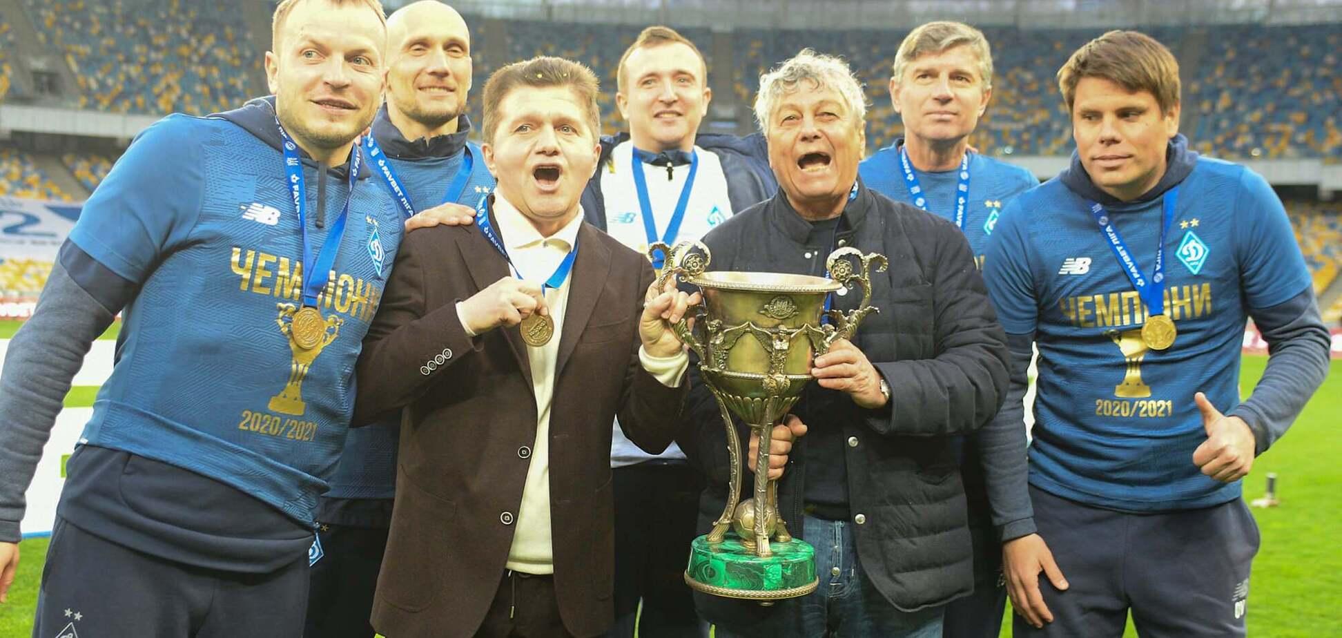 Динамо выиграло чемпионат Украины