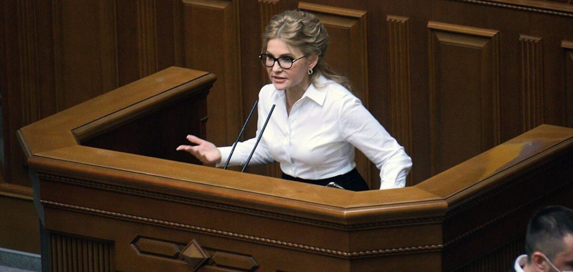 Только в Украине во время кризиса повышают налоги, добивая бизнес, - Тимошенко