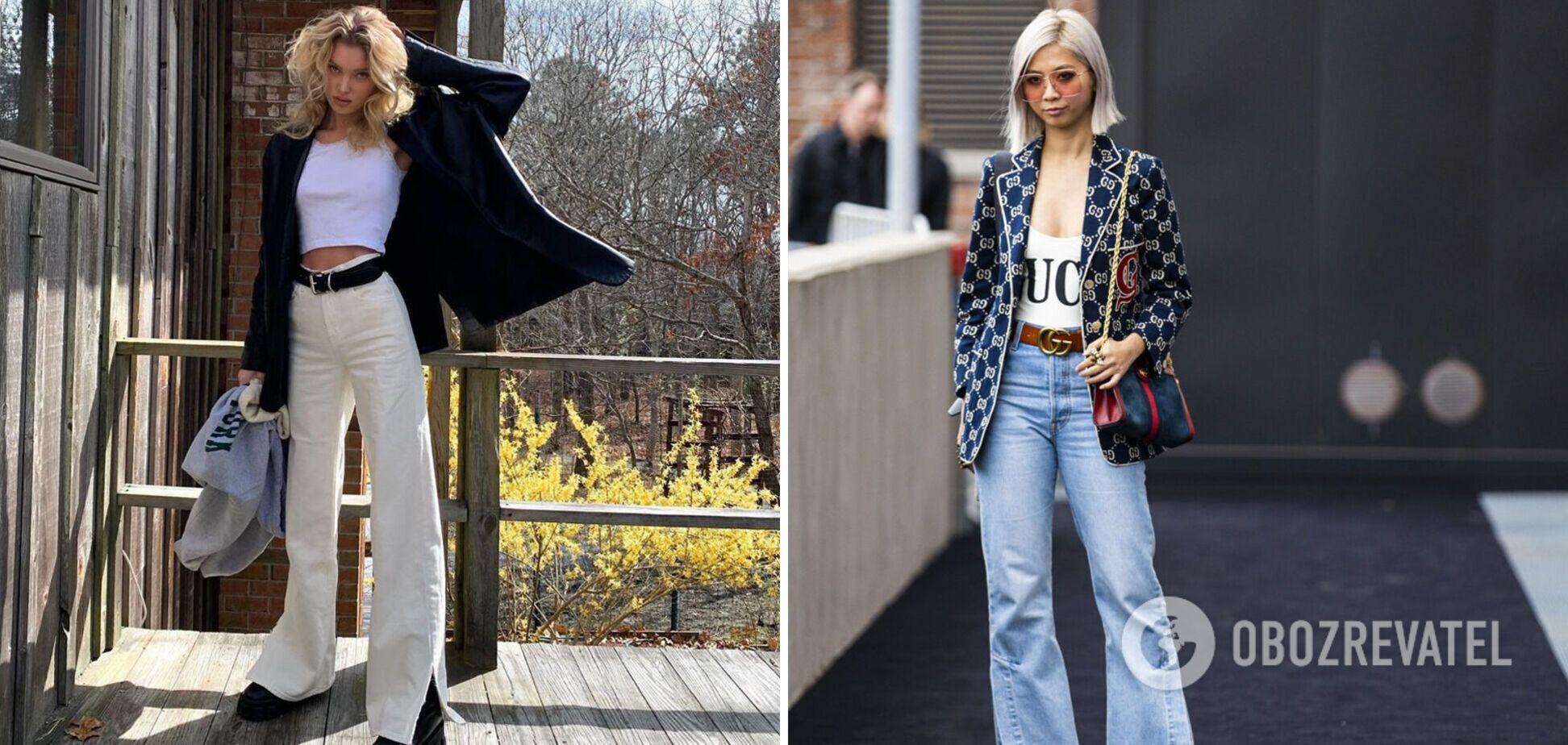 У моду повертаються джинси кльош: з чим поєднувати моделі