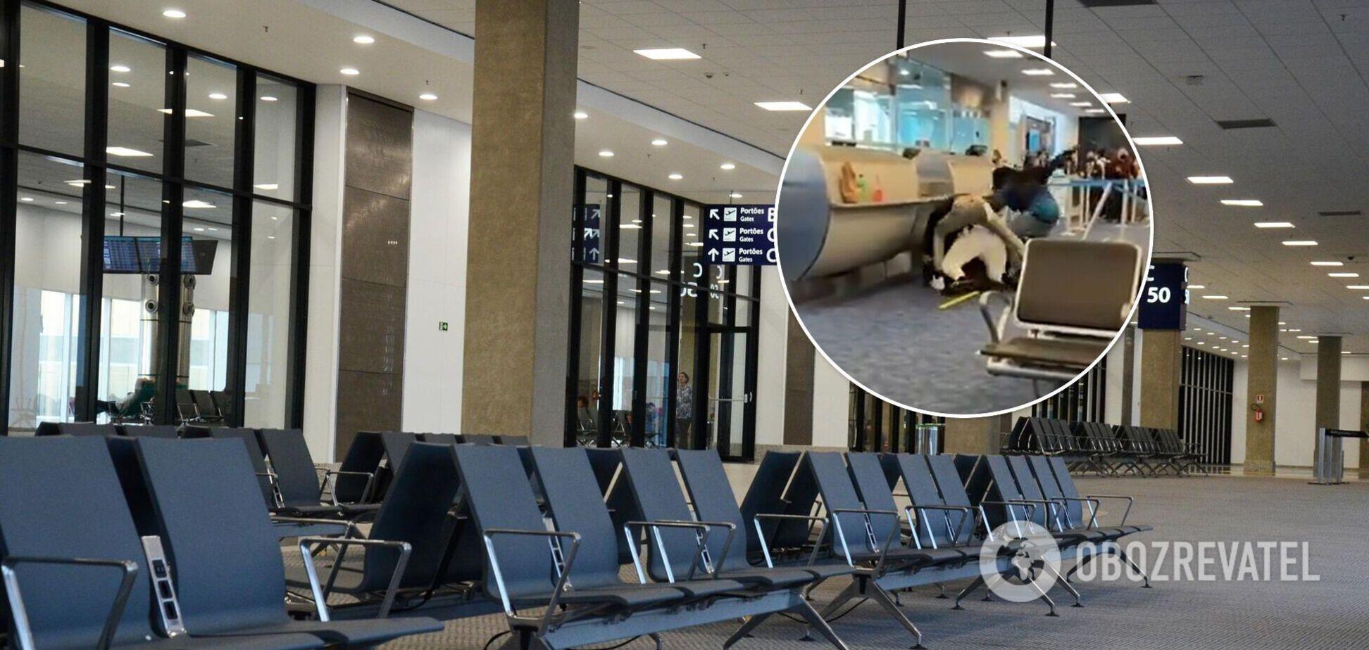 Пассажиры устроилидраку ваэропорту Майами