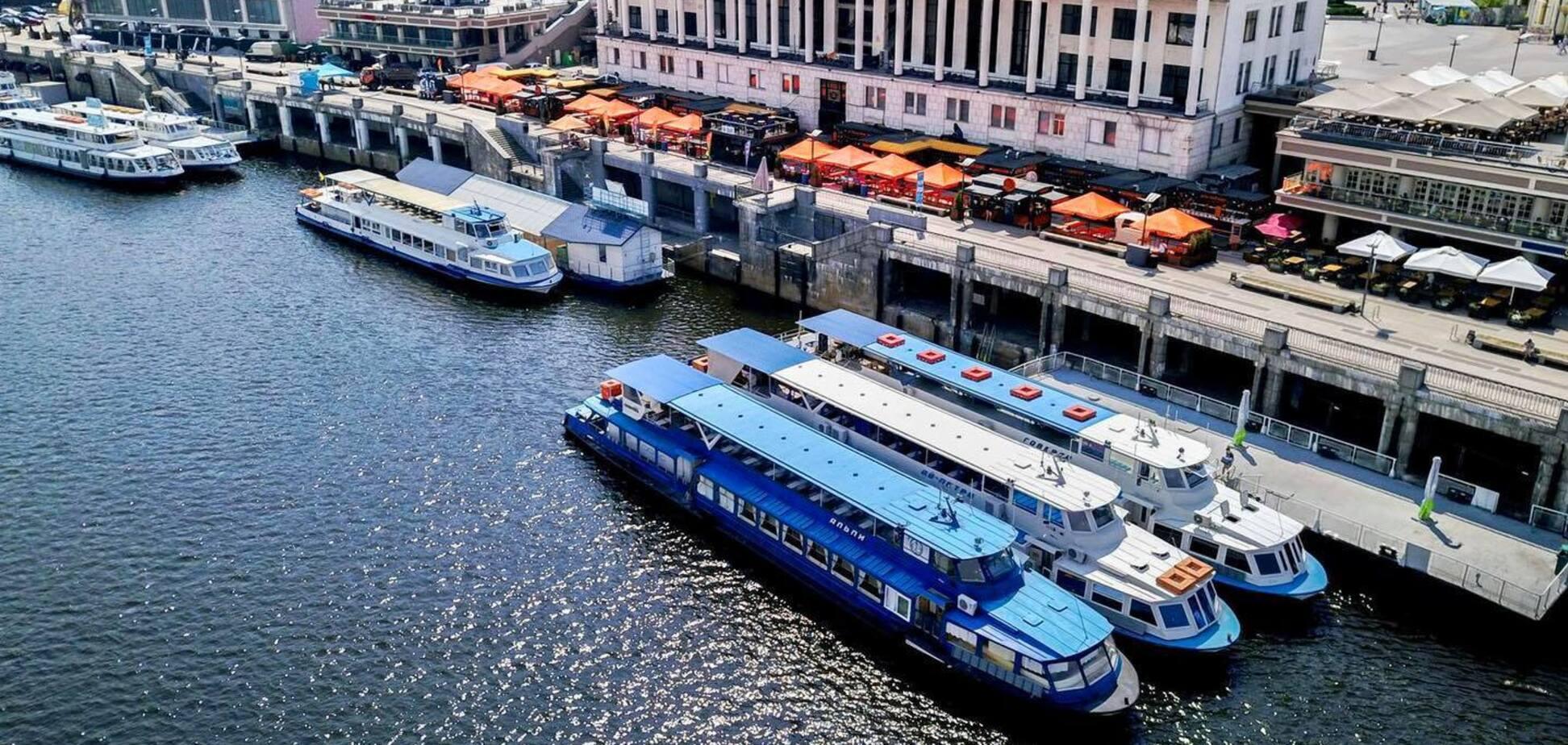 На теплоході по Дніпру: Київський річковий вокзал запрацює з 1 травня