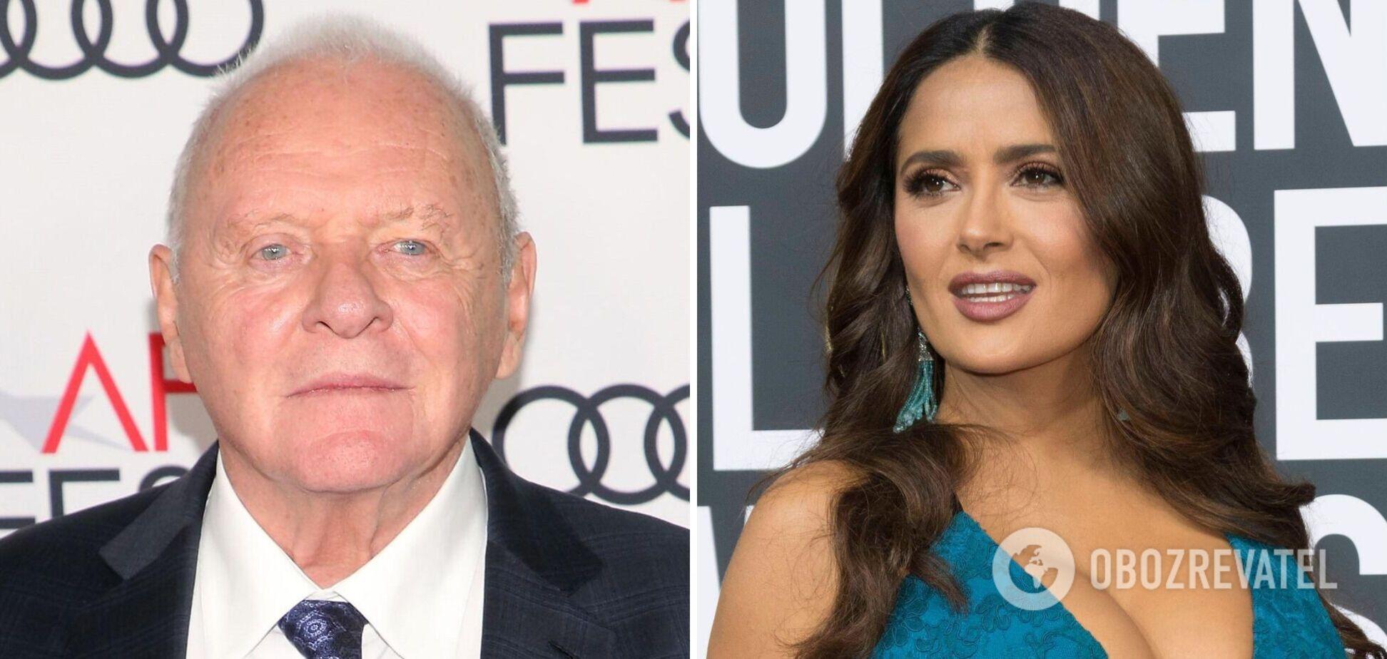 Энтони Хопкинс и Сальма Хайек отметили 'Оскар' актера танцем. Видео