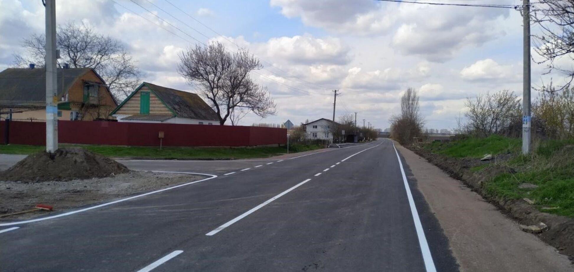 На Київщині завершився поточний середній ремонт дороги 100405 Глибоке - Городище