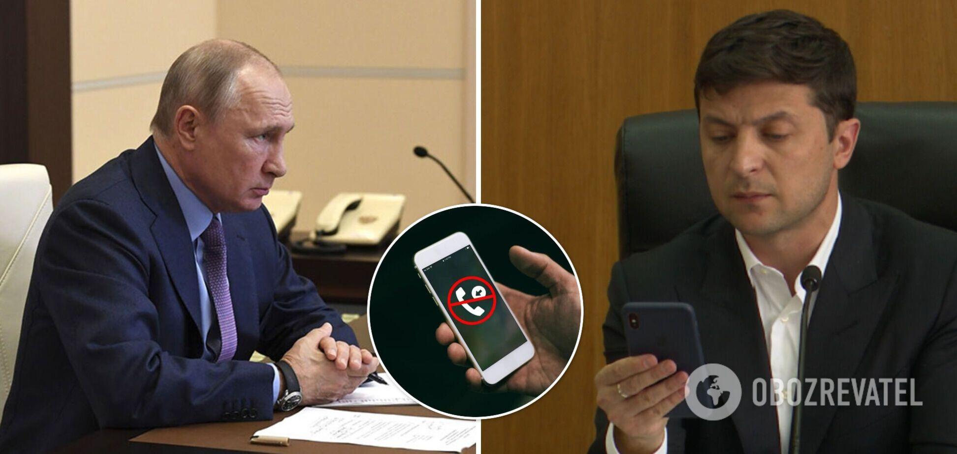 В Кремле объяснили, почему Путин не берет трубку от Зеленского