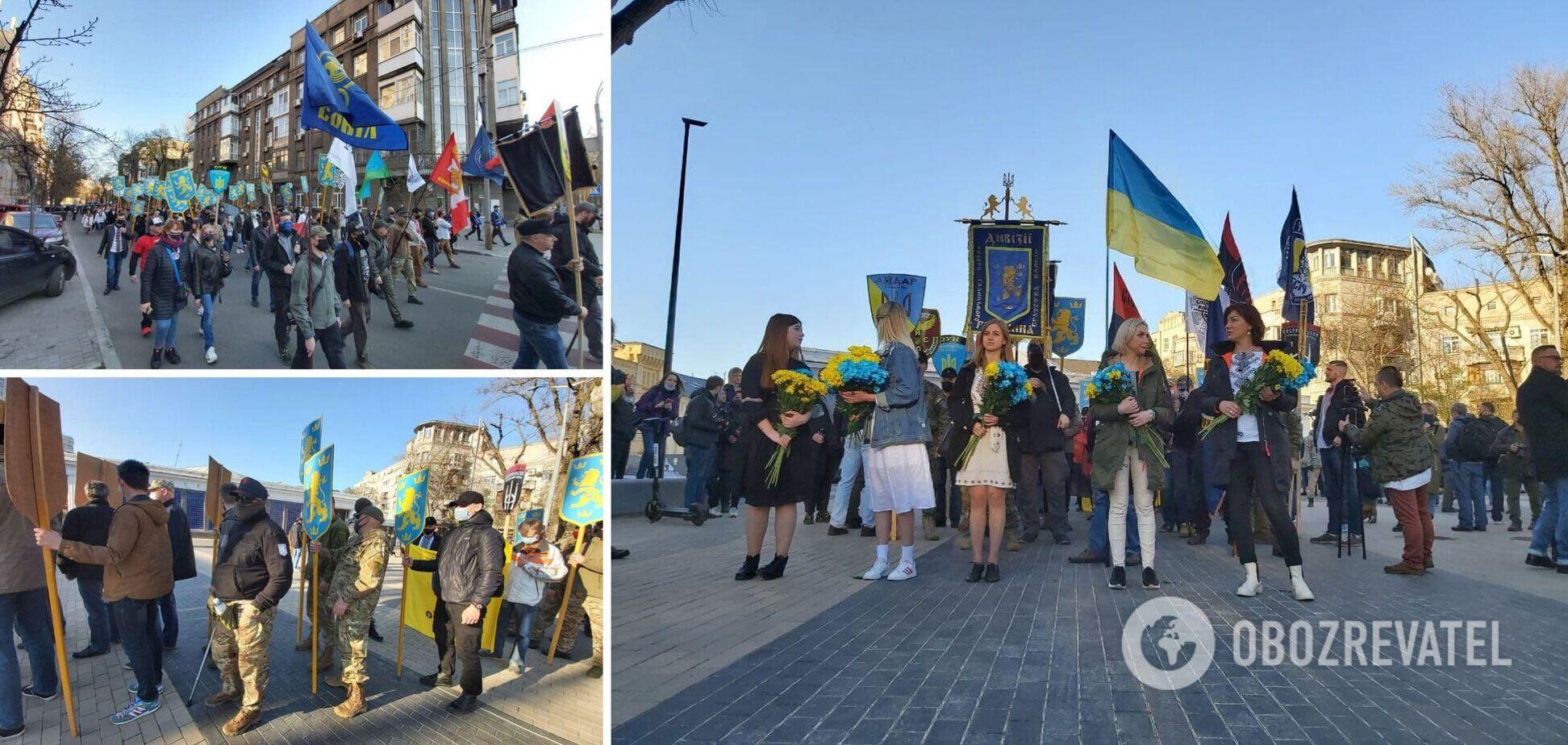 В Киеве прошел марш в честь создания дивизии 'Галичина': подробности, фото и видео
