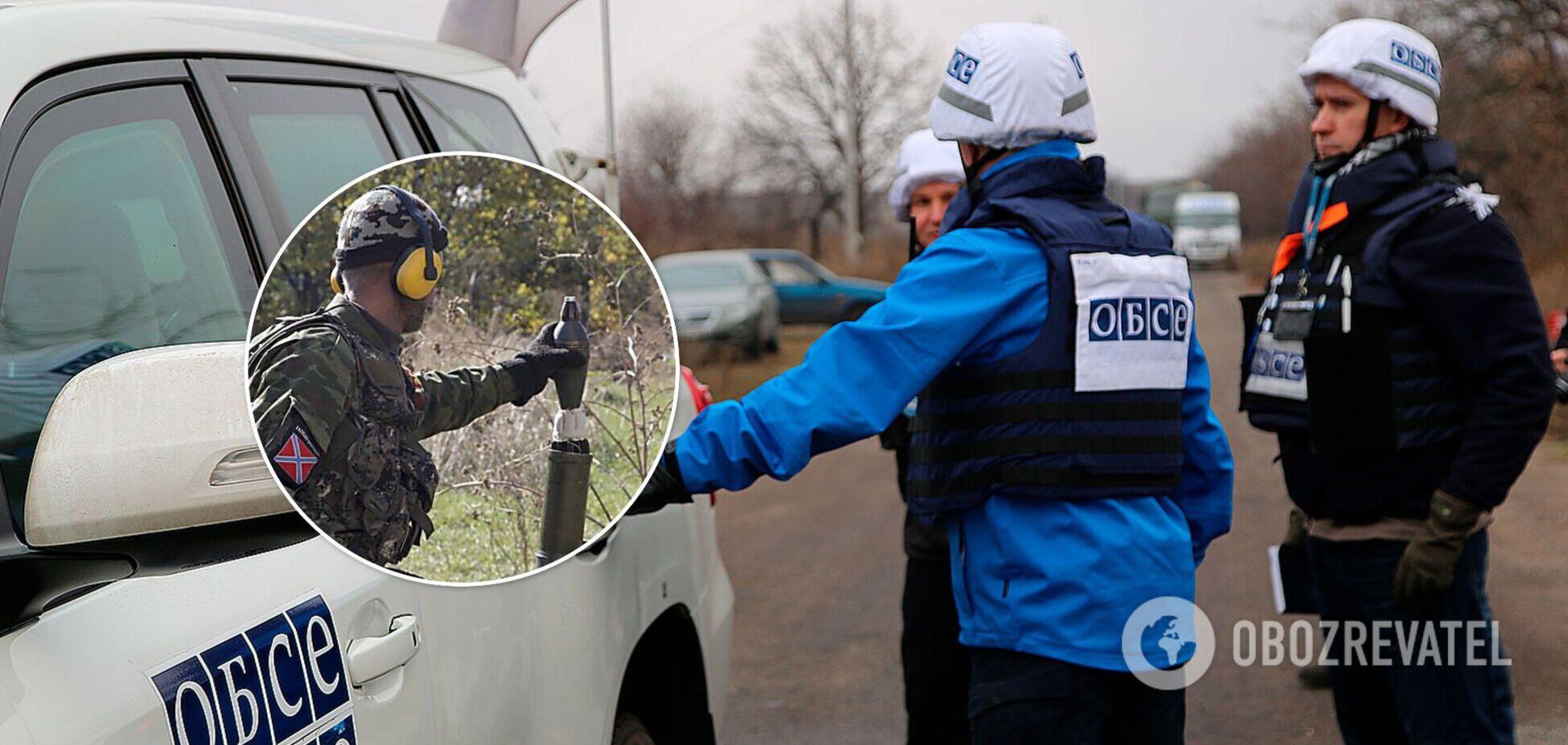 ОБСЄ зафіксувала міномети окупантів на Донбасі замість їхньої знищеної камери