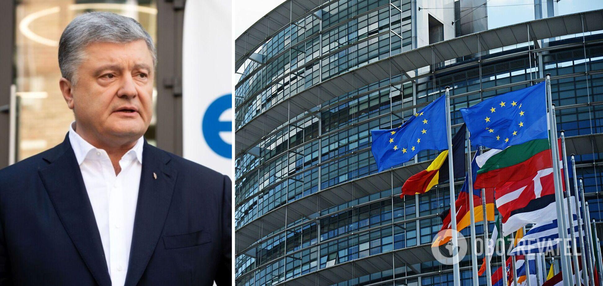 Порошенко – про резолюцію Європарламенту щодо України: зроблено перший крок до 'пекельних санкцій' проти РФ